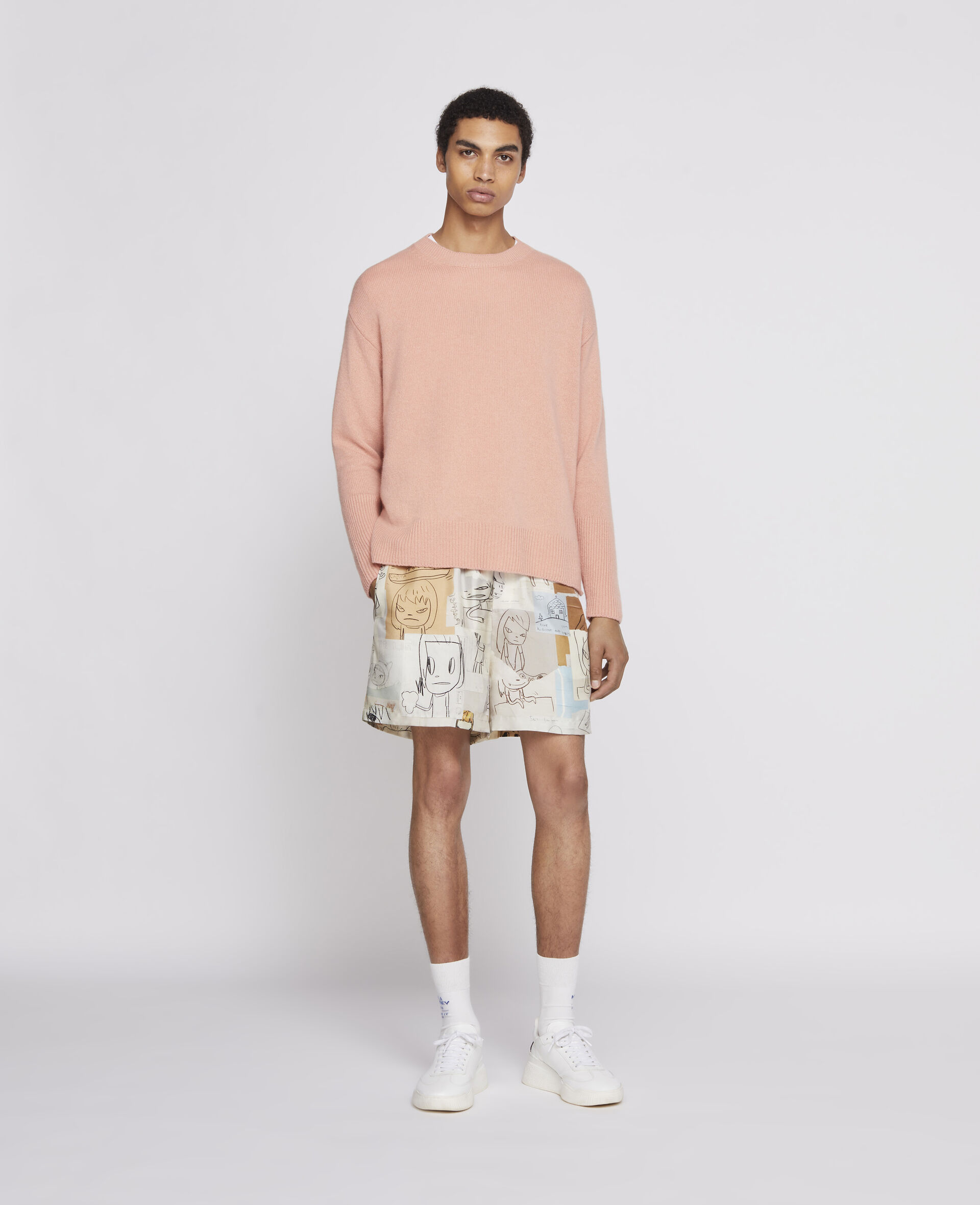 Nara Timothy Silk Shorts-Multicolour-large image number 3