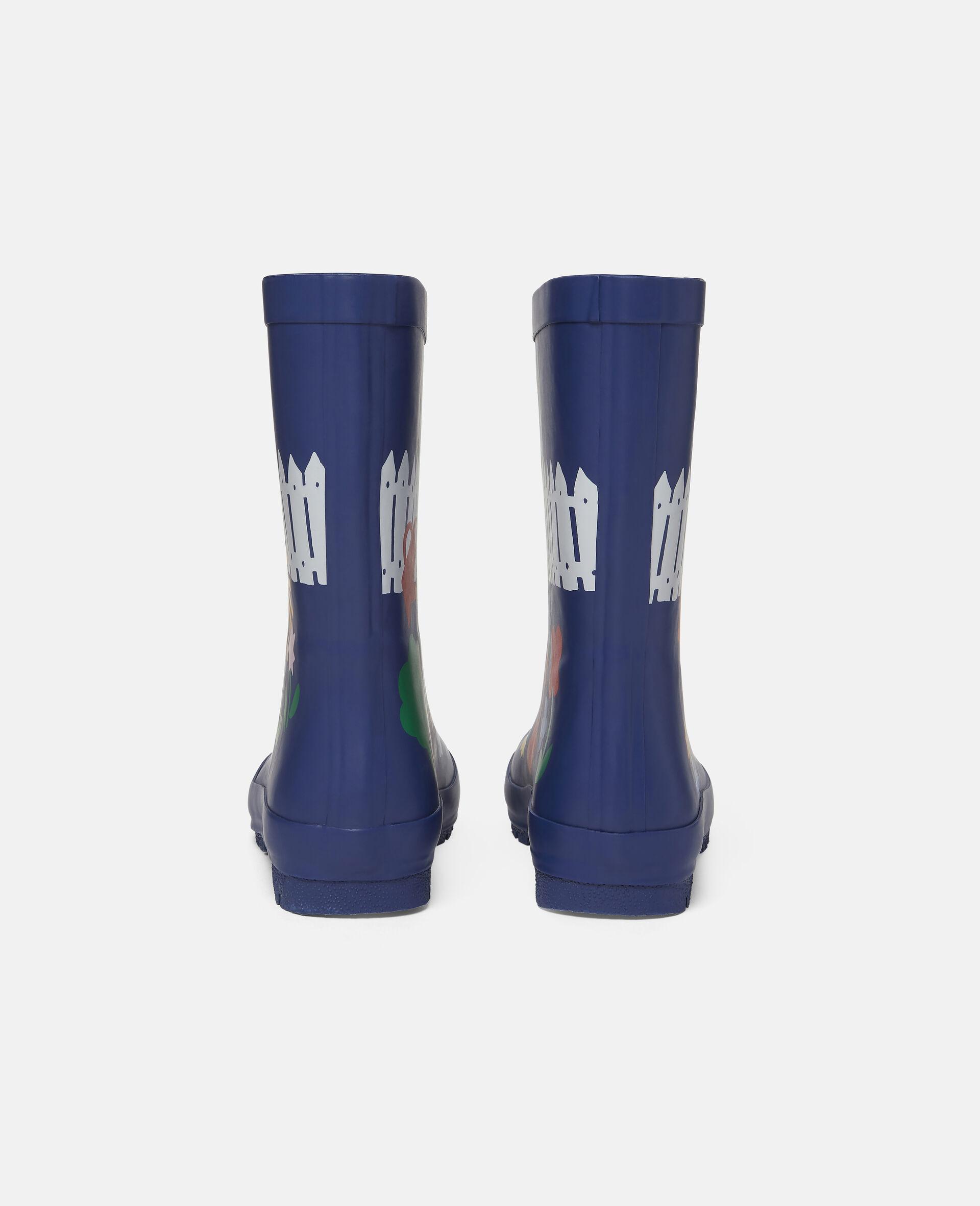 Gardening Waterproof Rainboots-Blue-large image number 2