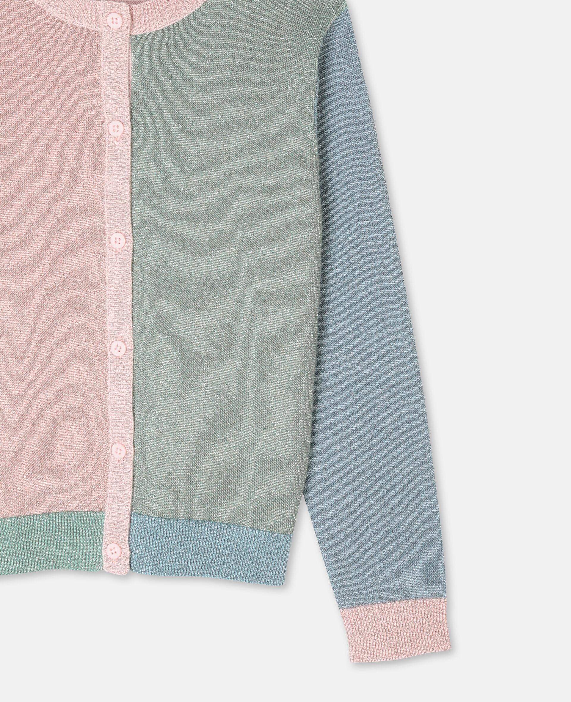 Multicolor Knit Cardigan -Pink-large image number 1