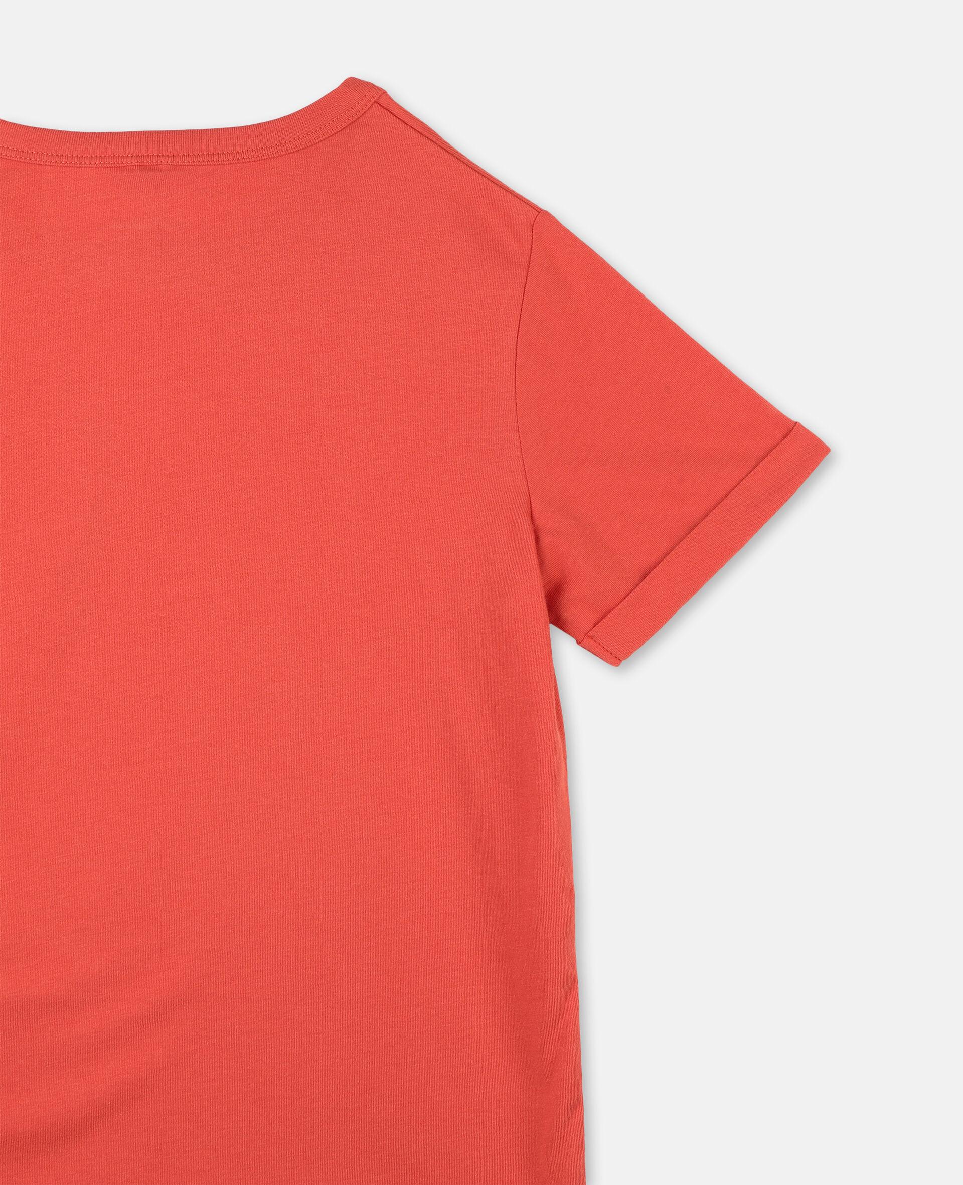 Baumwoll-T-Shirt mit Logo-Rot-large image number 2