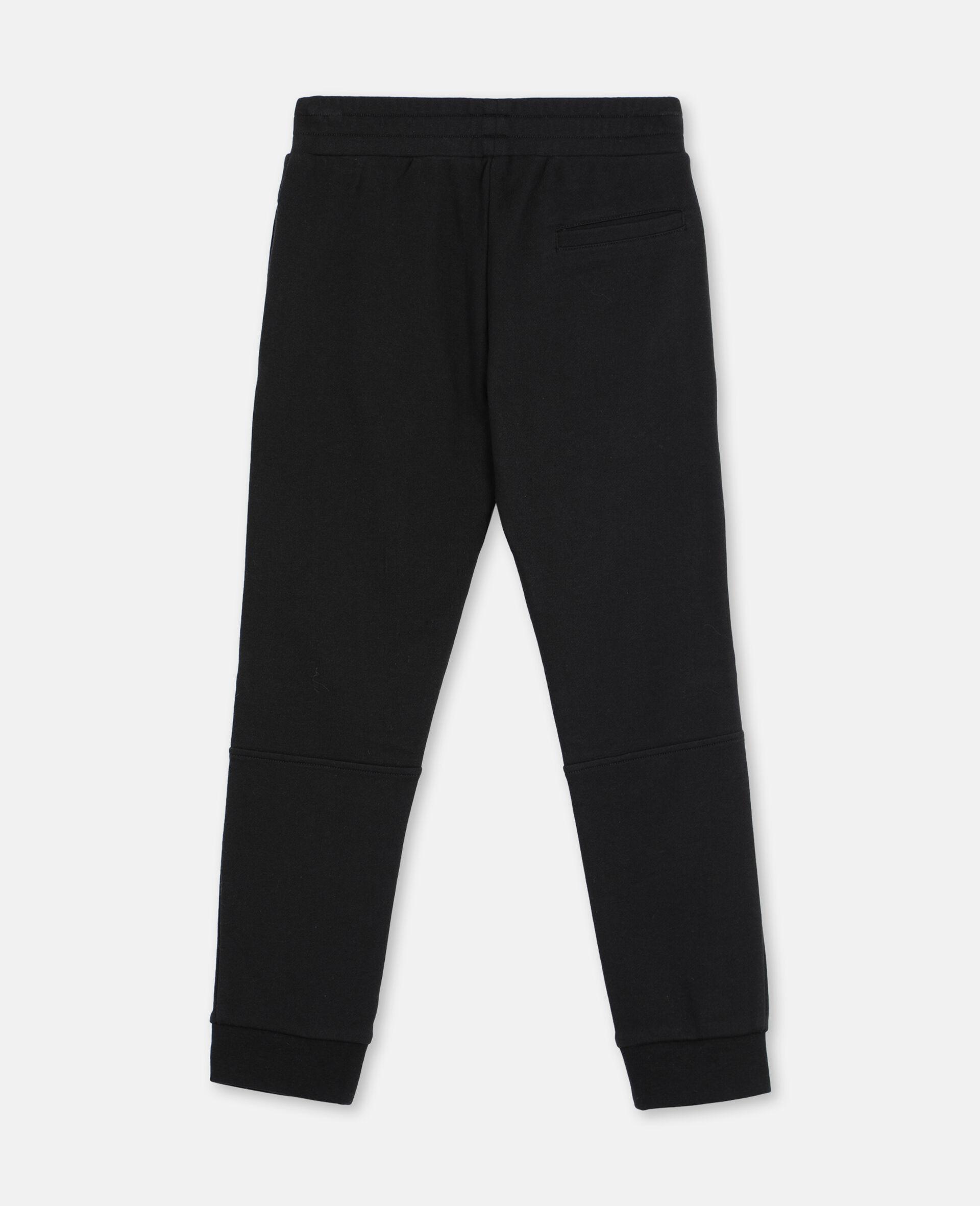 Basic Cotton Sweatpants -Black-large image number 3