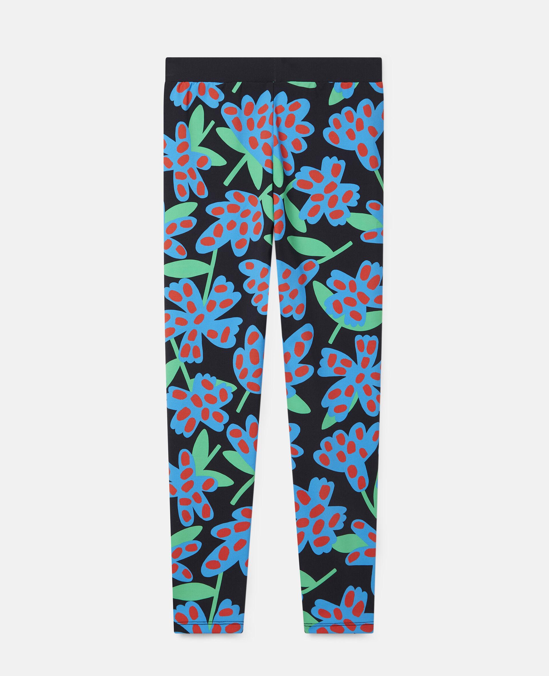 Spotty Flowers Oversized Leggings-Multicolour-large image number 3