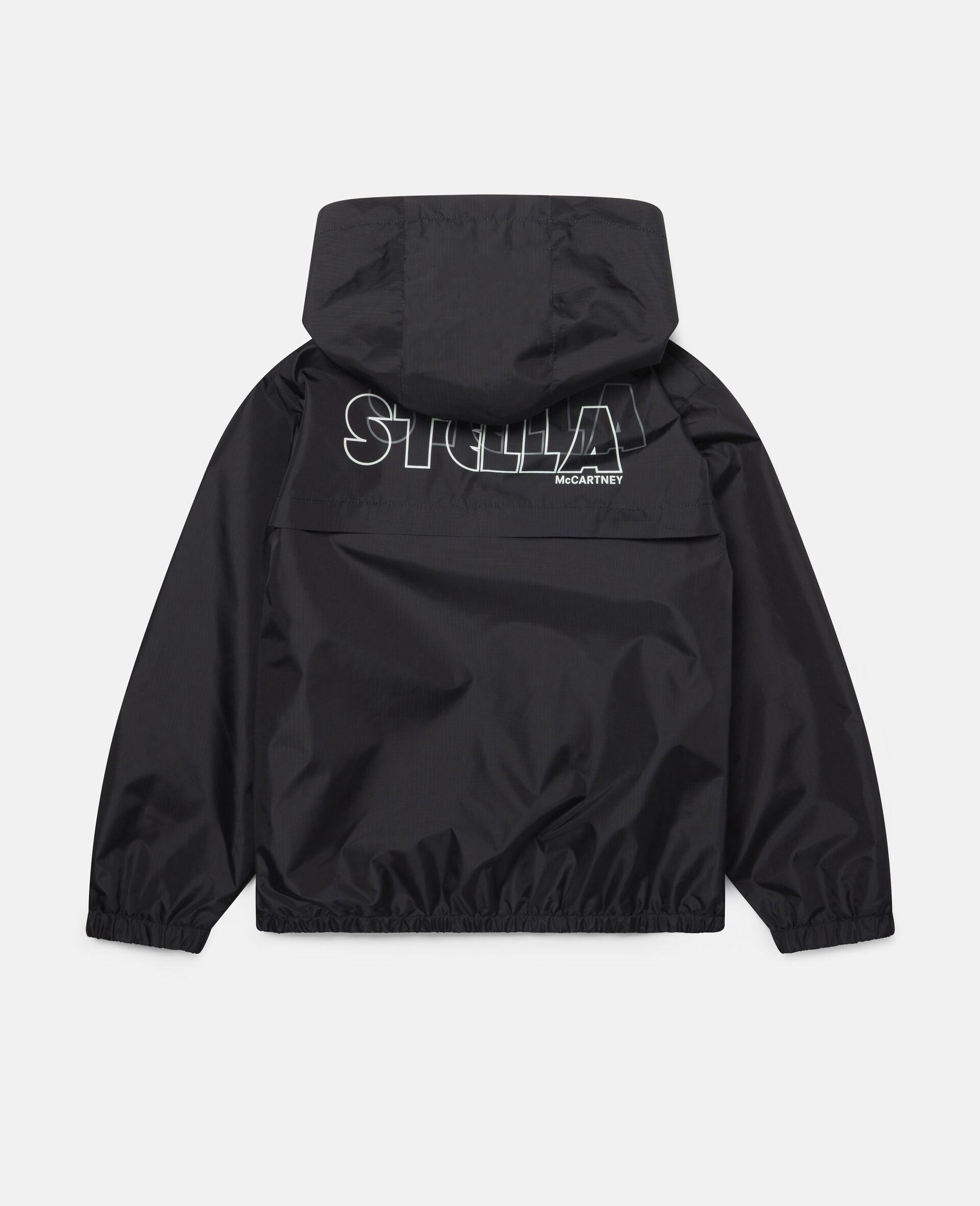 Active Hooded Jacket-Black-large image number 3