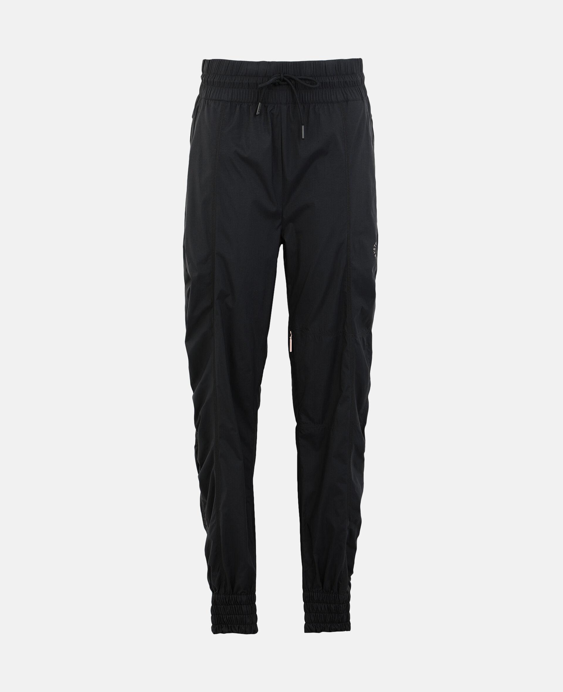 Black Woven Training Pants-Black-large image number 0
