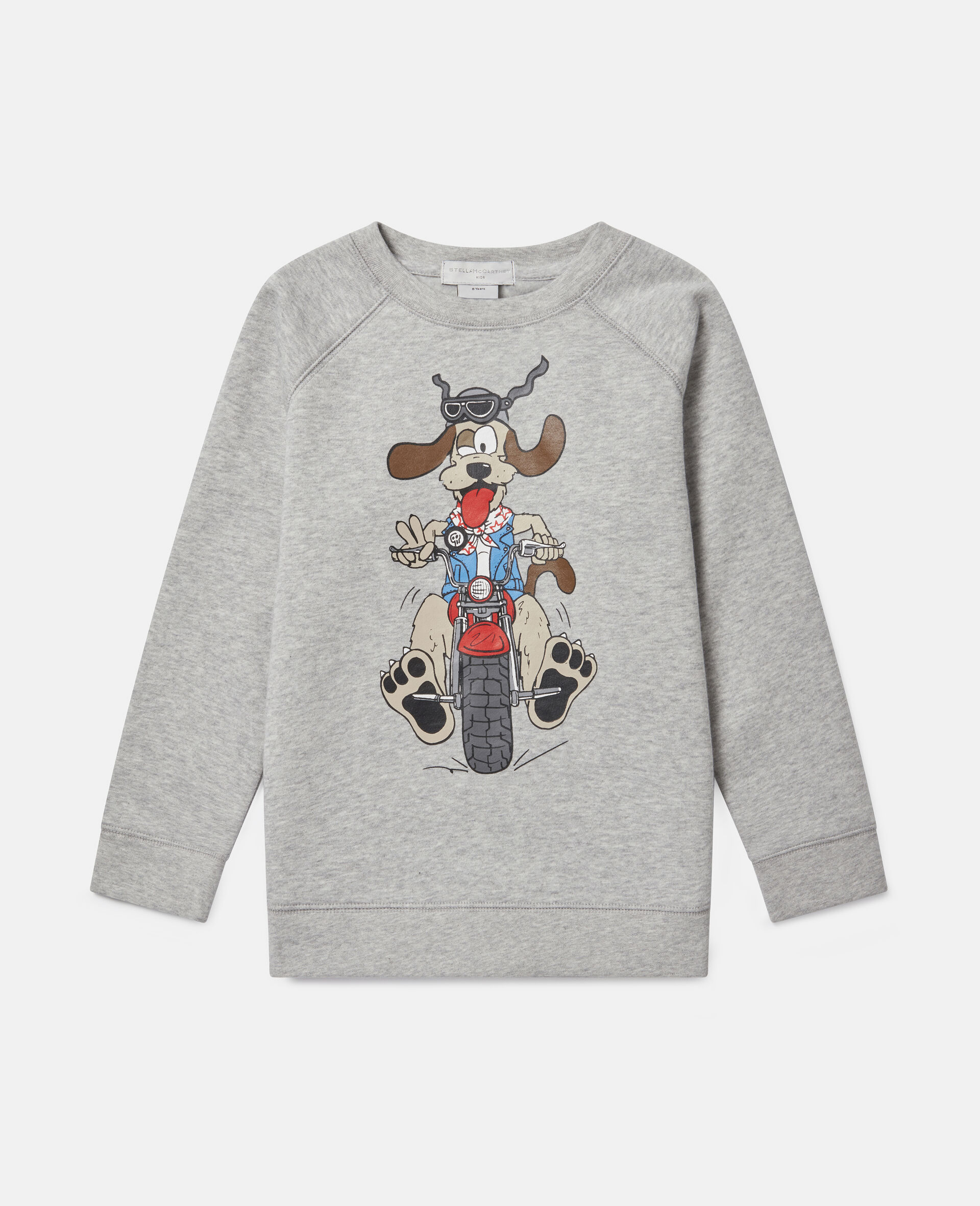 Doggie Rider Fleece Sweatshirt-Grey-large image number 0