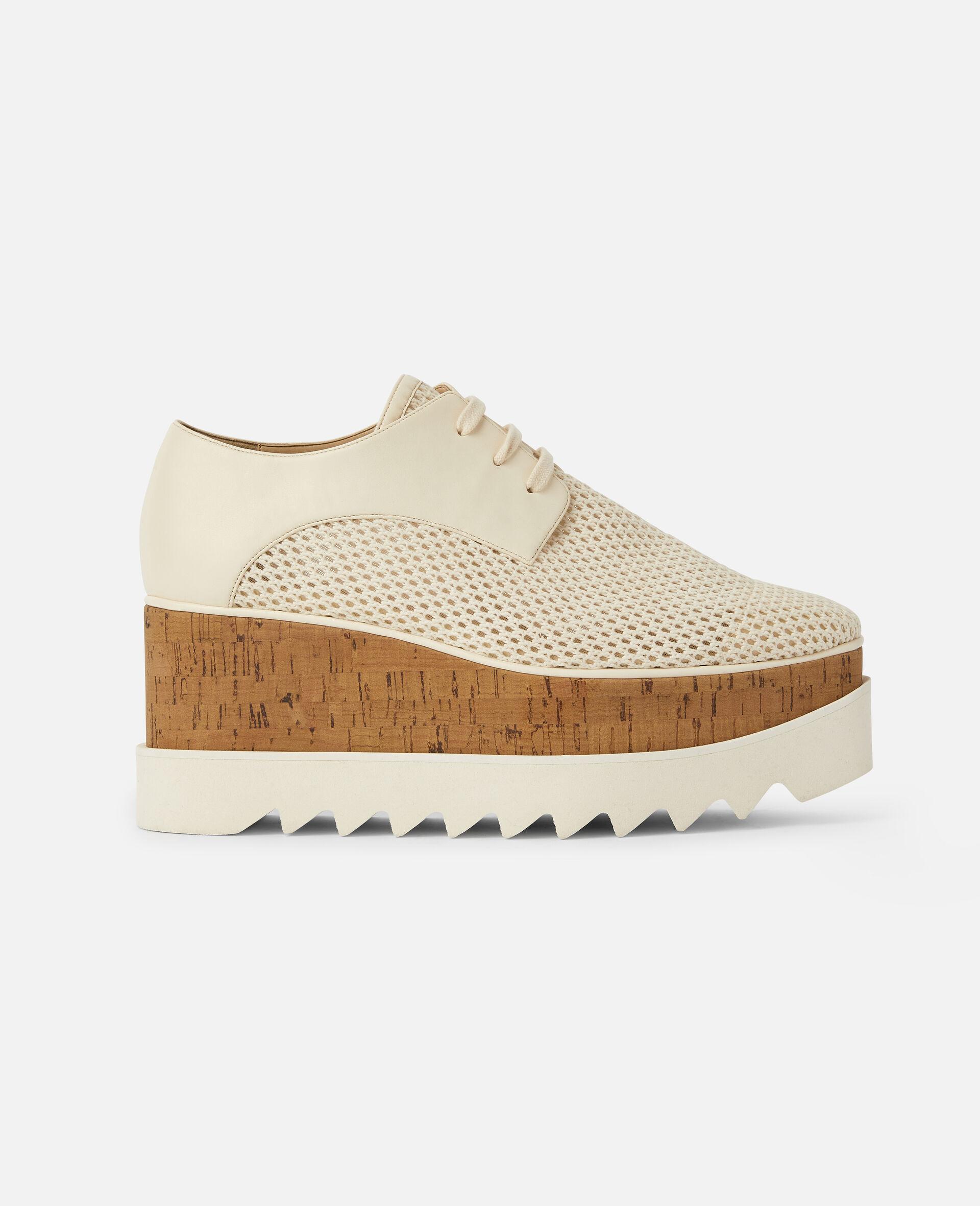 Chaussures compensées Elyse en mesh tissé -Blanc-large image number 0