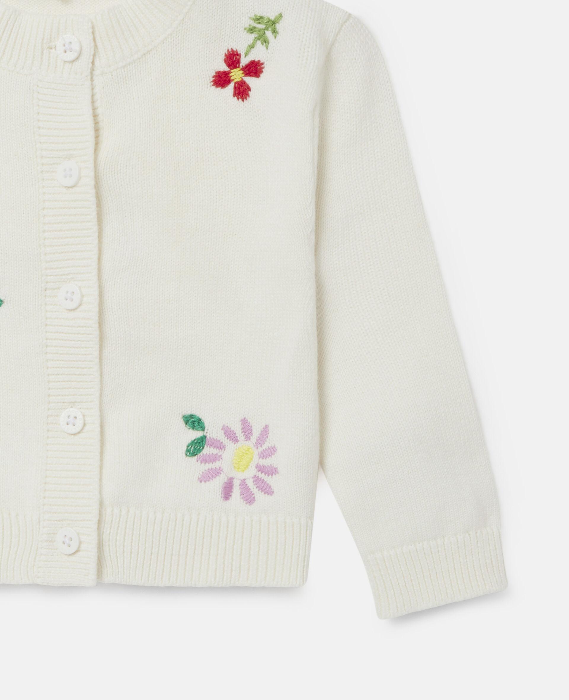 Cardigan à fleurs brodées-Blanc-large image number 2