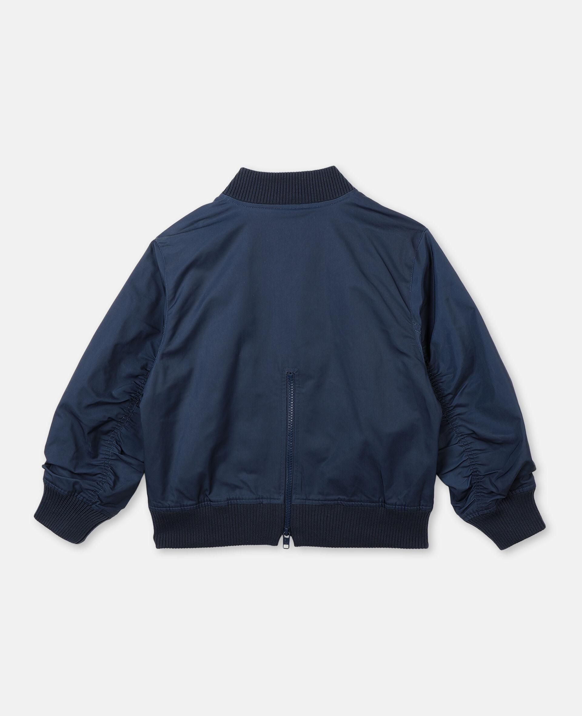 Jacke mit Palmen-Stickerei -Blau-large image number 3