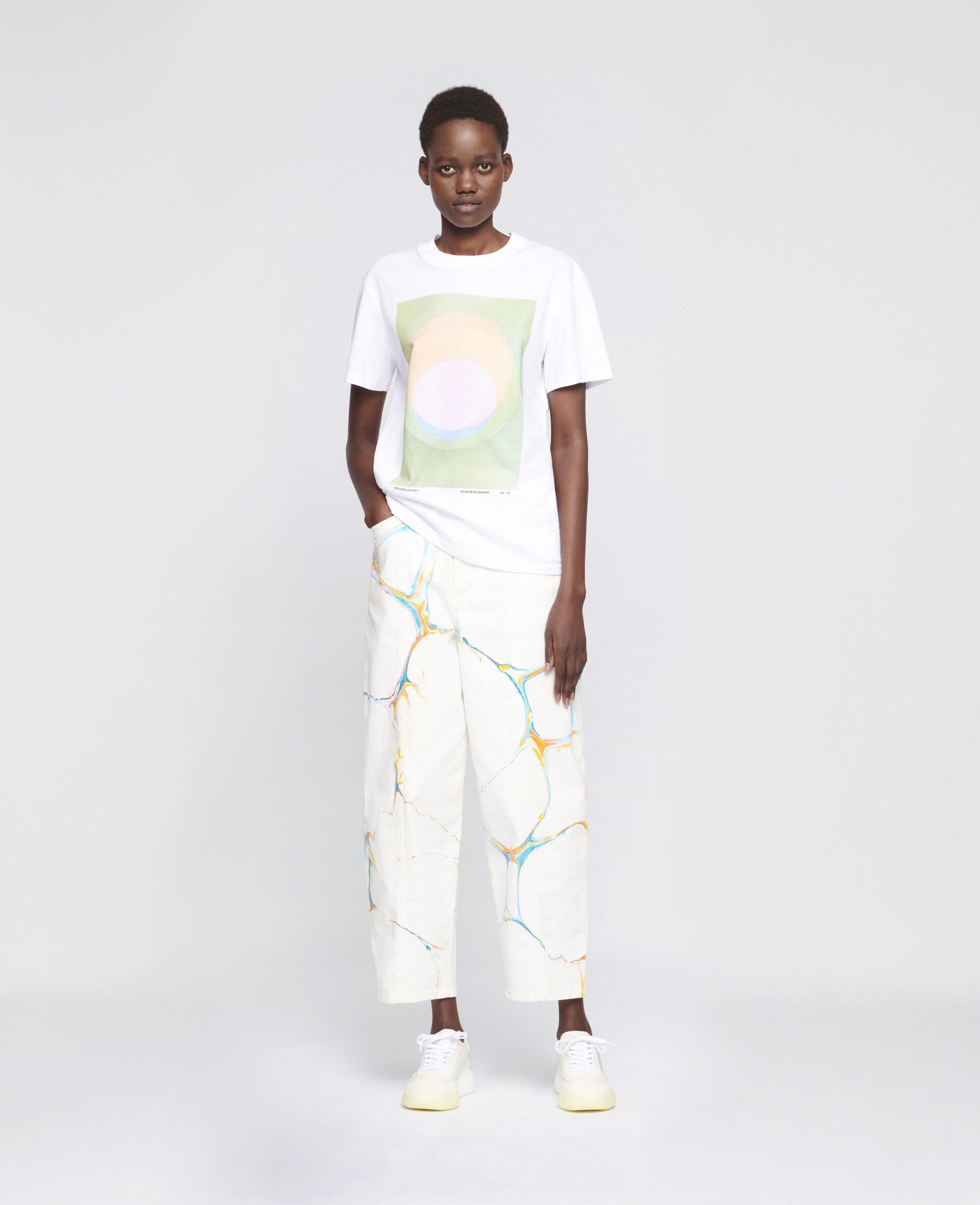"T-Shirt ""O"" di Olafur Eliasson-Bianco-large image number 1"