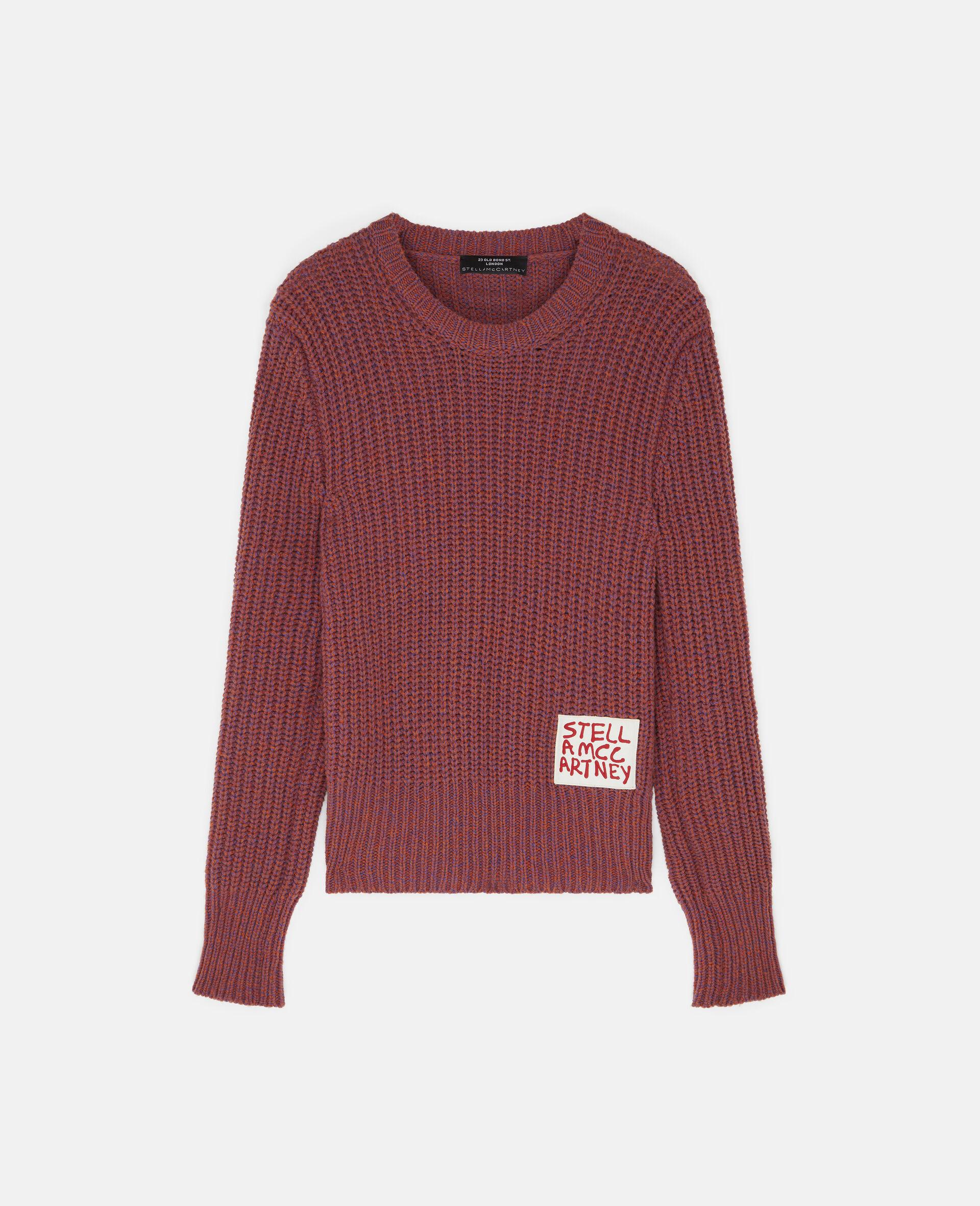 Ed Curtis Stella Logo Wool Jumper-Red-large image number 0