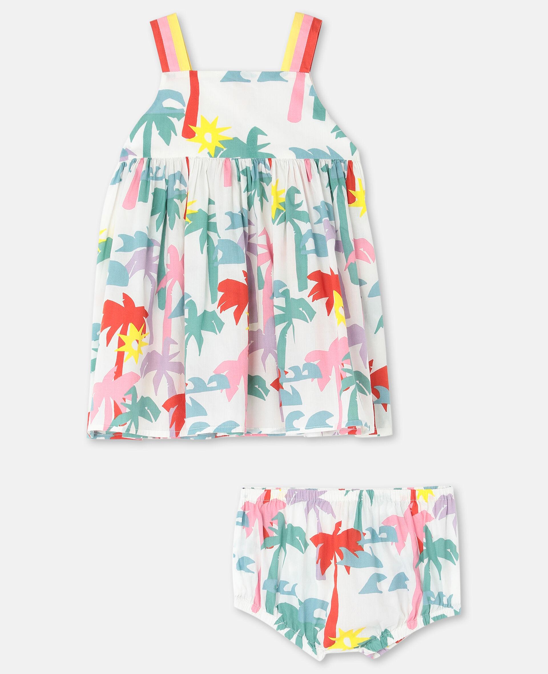 Kleid aus Baumwolle mit Palmen-Print-Bunt-large image number 0