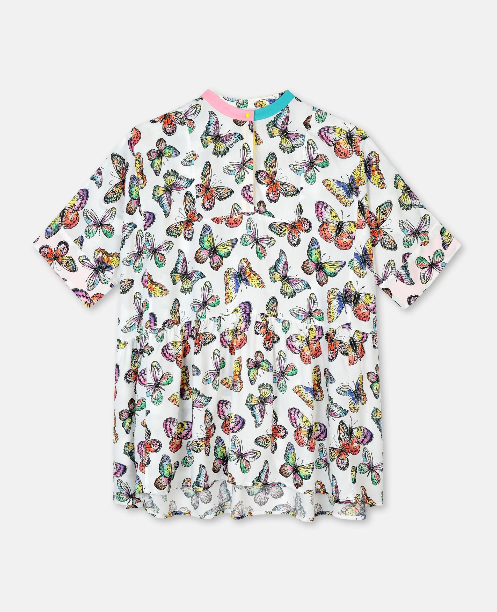 Oversized-Kleid aus Viskose mit Schmetterlingen-Bunt-large image number 0