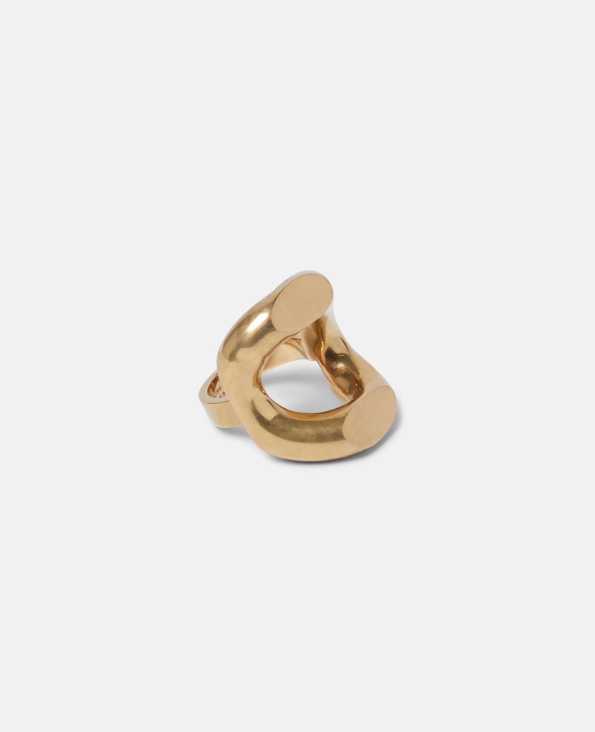 Ring aus Messing-Gelb-large image number 1
