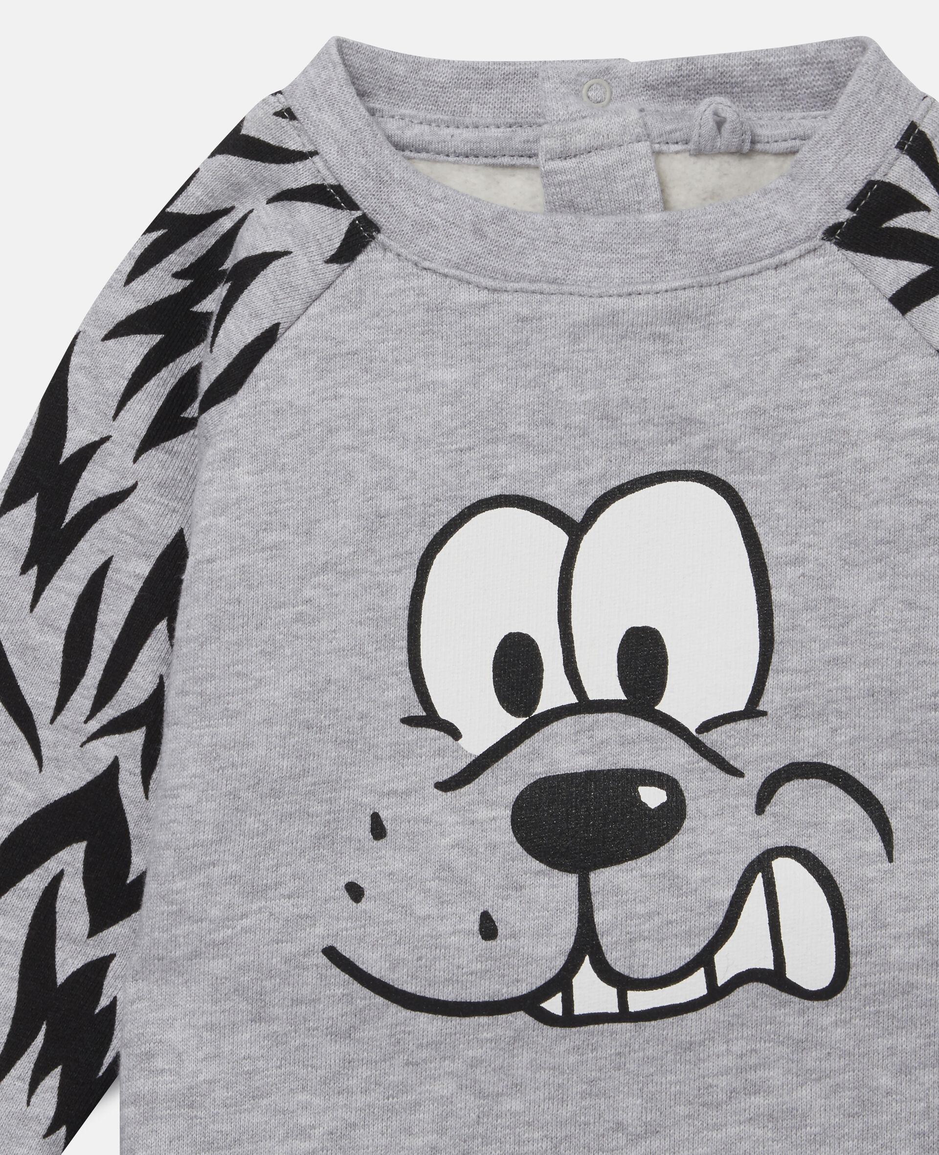 Doggie Fleece Tracksuit-Grey-large image number 1