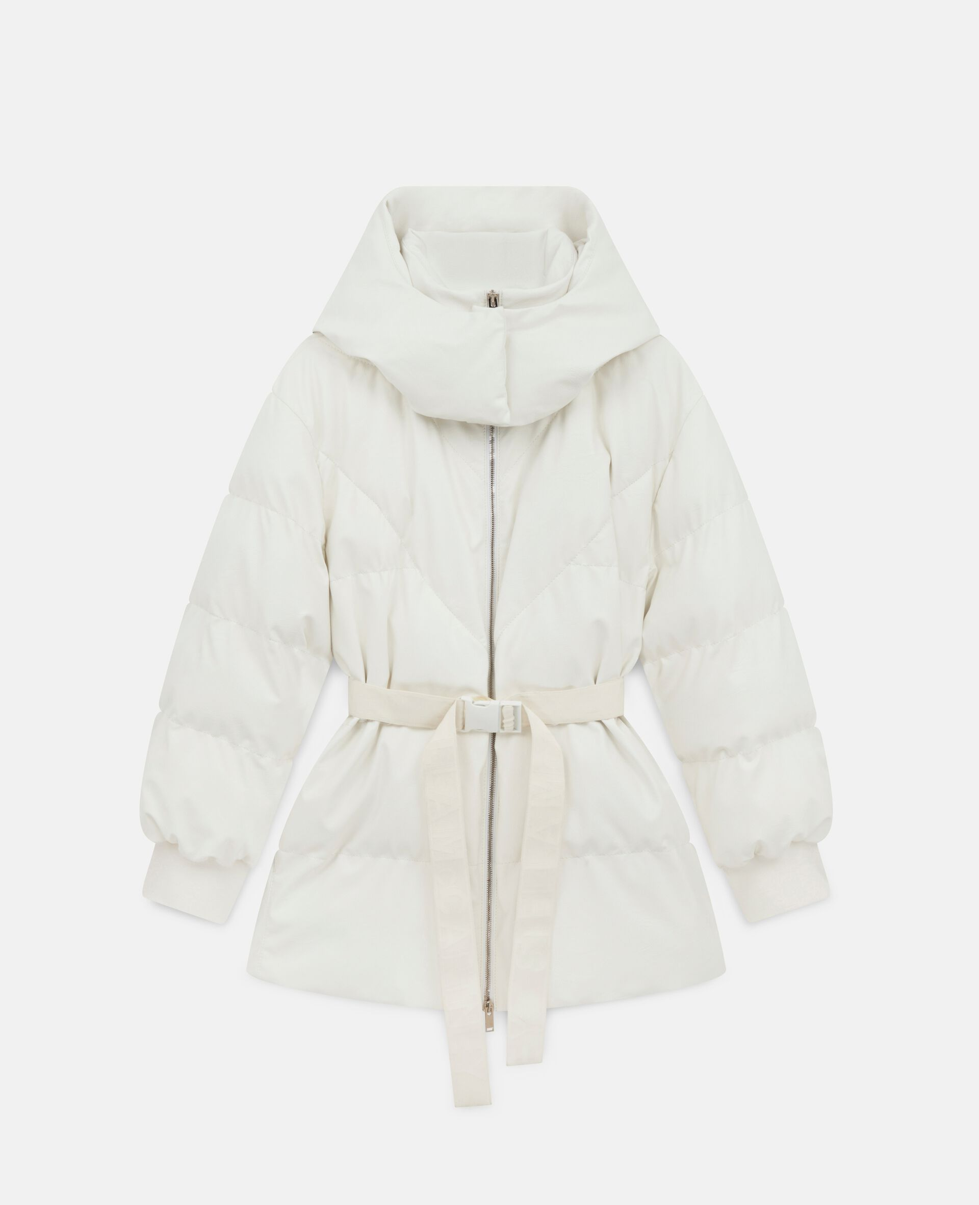 Kayla Quilted Puffer Jacket-White-large image number 0