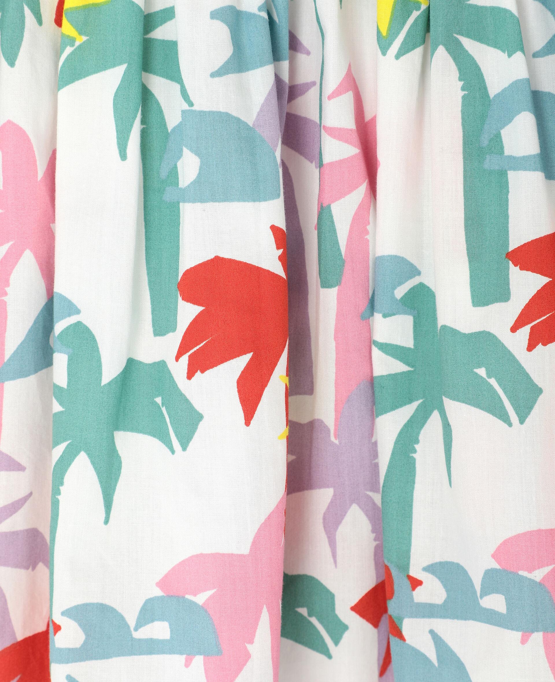 Kleid aus Baumwolle mit Palmen-Print-Bunt-large image number 1