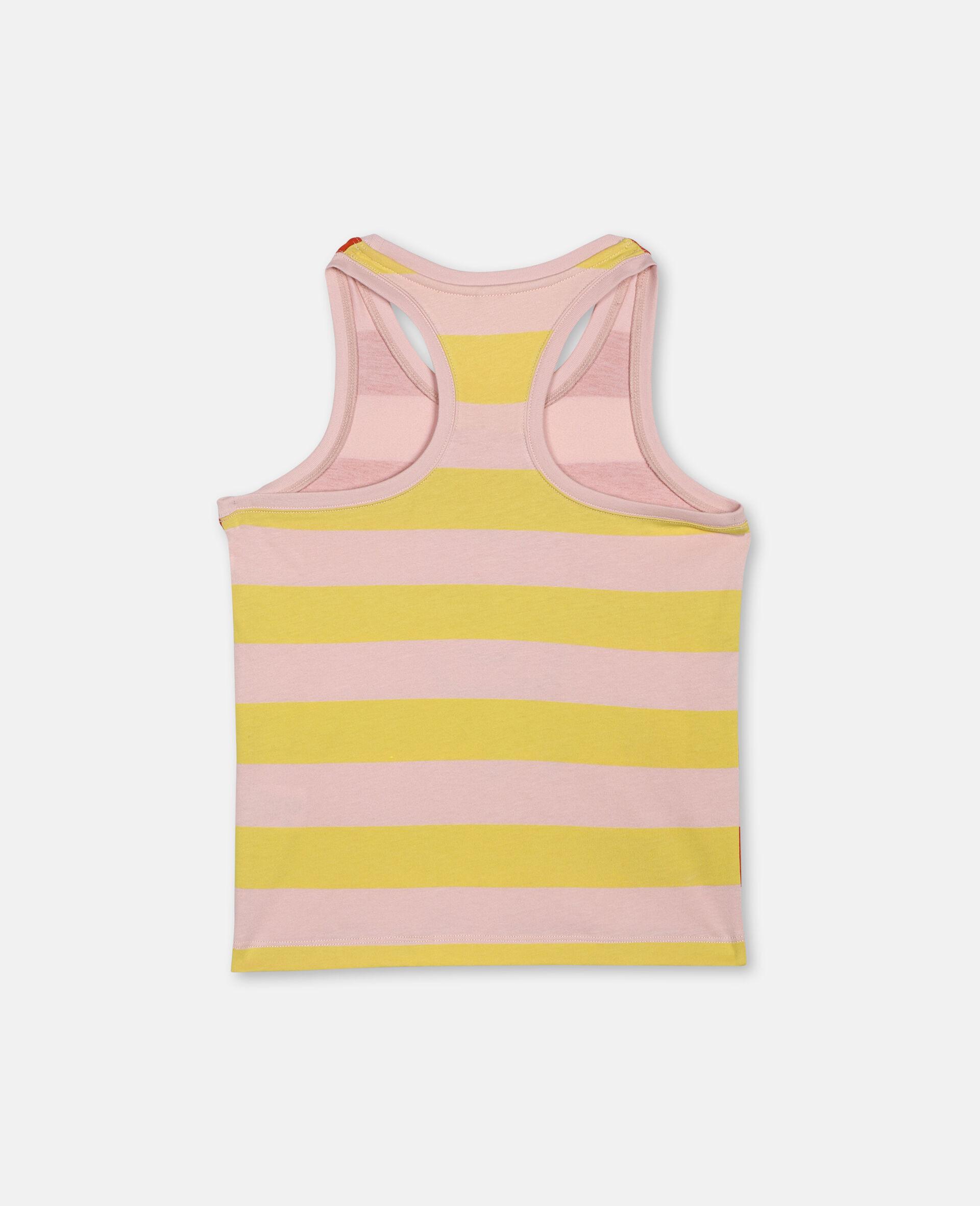 Dancing Flamingo Striped Vest -Pink-large image number 3