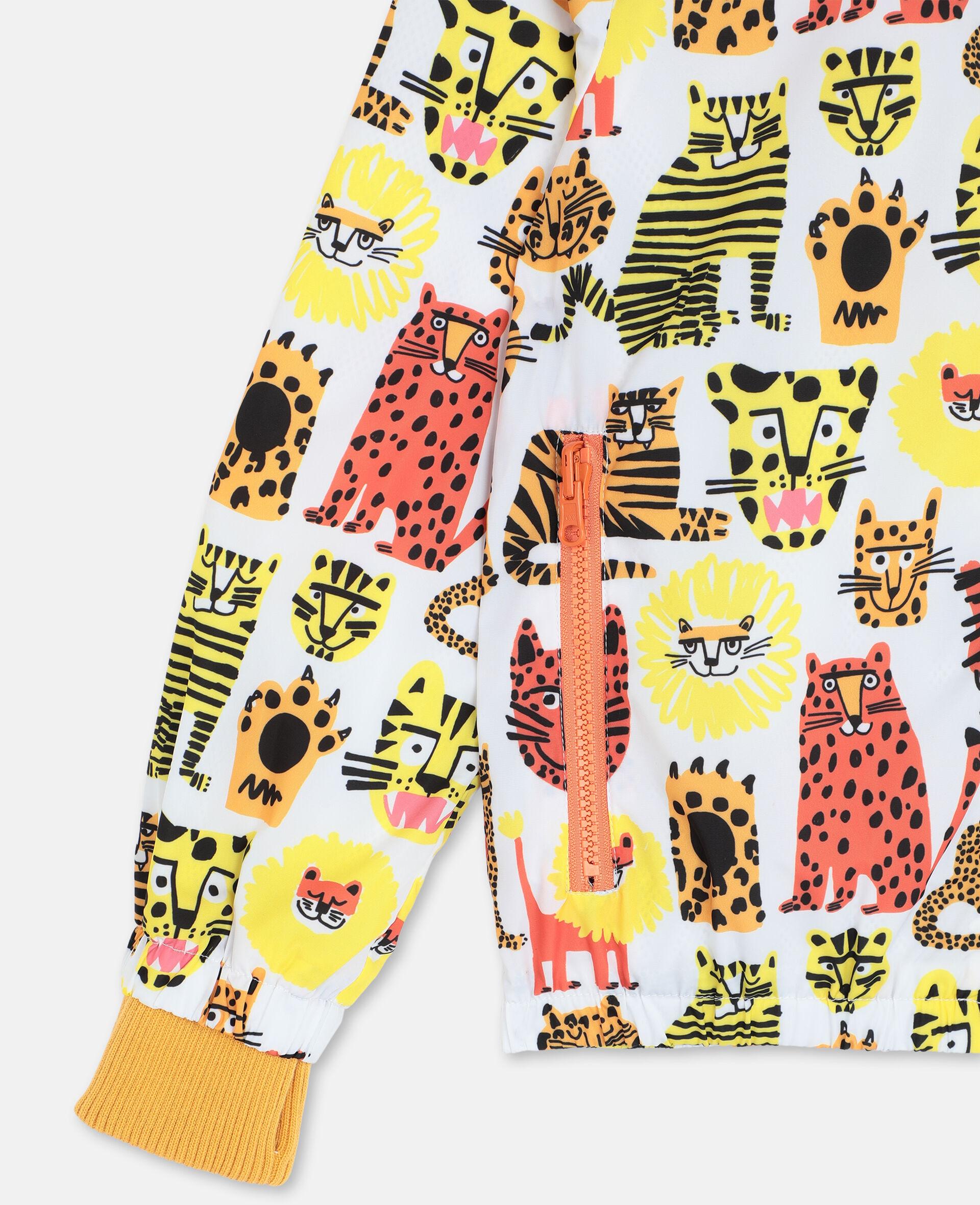 Jacke mit Wildkatzen-Print -Gelb-large image number 1