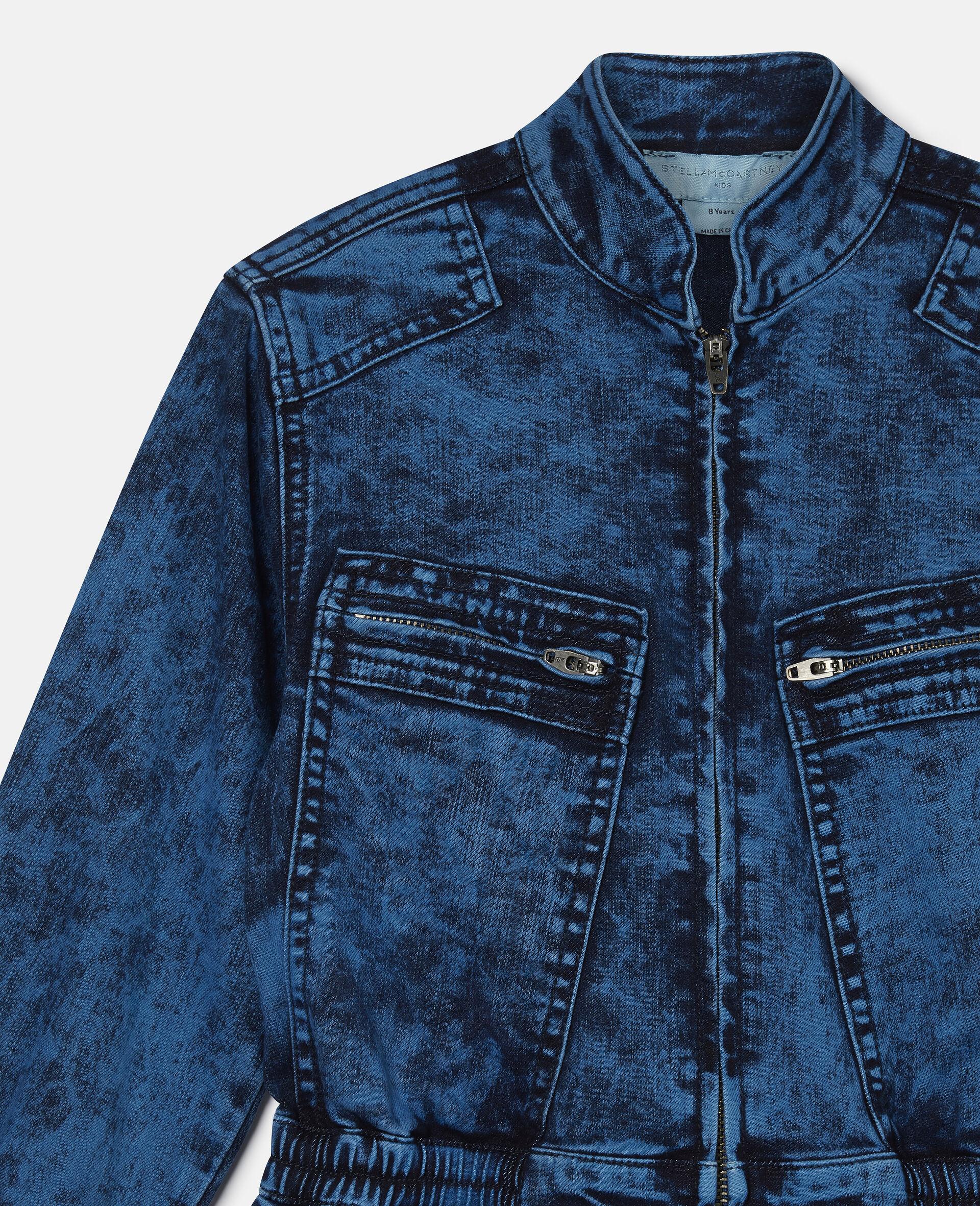 Combinaison en denim-Bleu-large image number 2