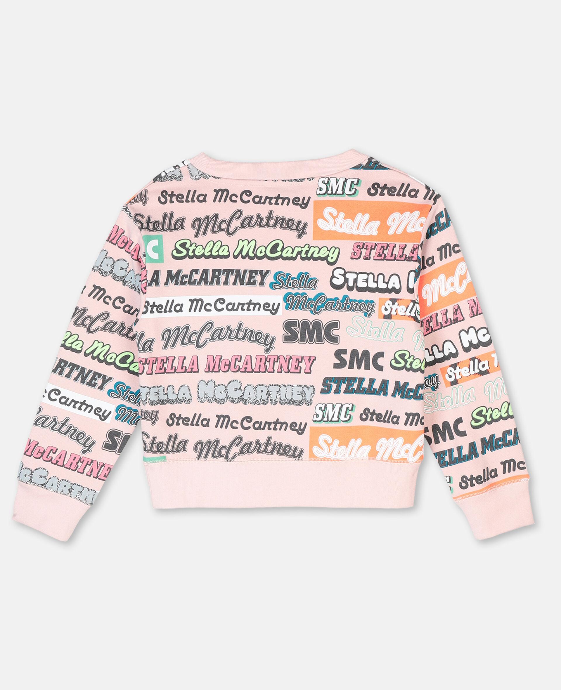 Logo Cotton Sport Sweatshirt-Pink-large image number 3