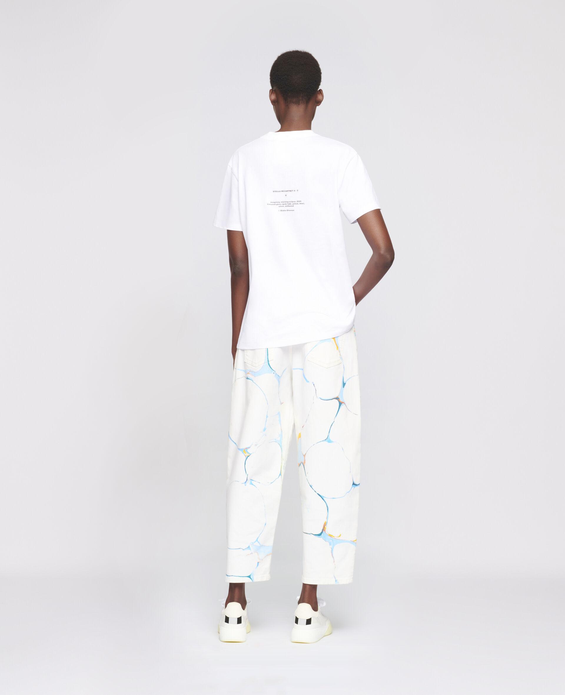 "T-Shirt ""O"" di Olafur Eliasson-Bianco-large image number 2"