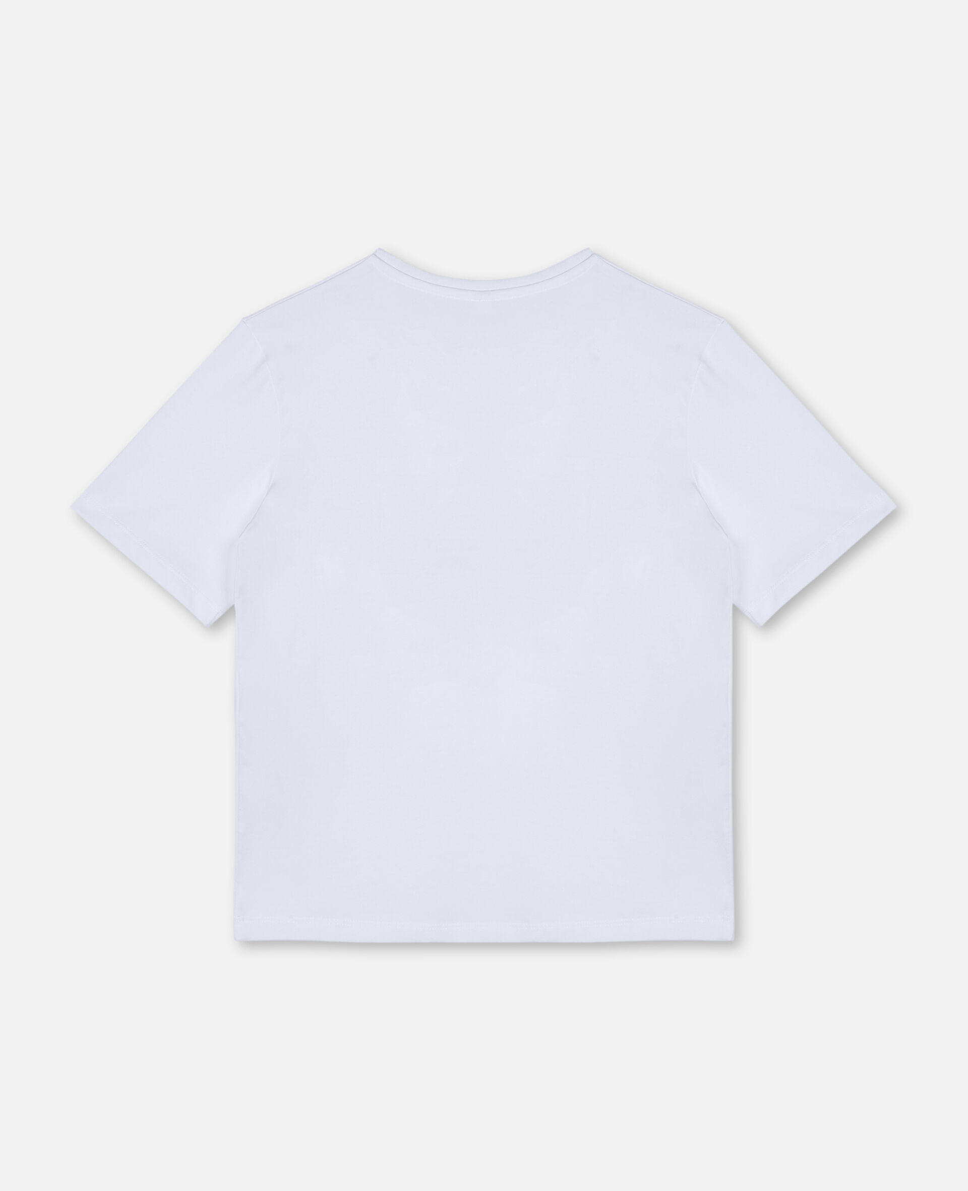 Postcard Oversize T-shirt-White-large image number 3