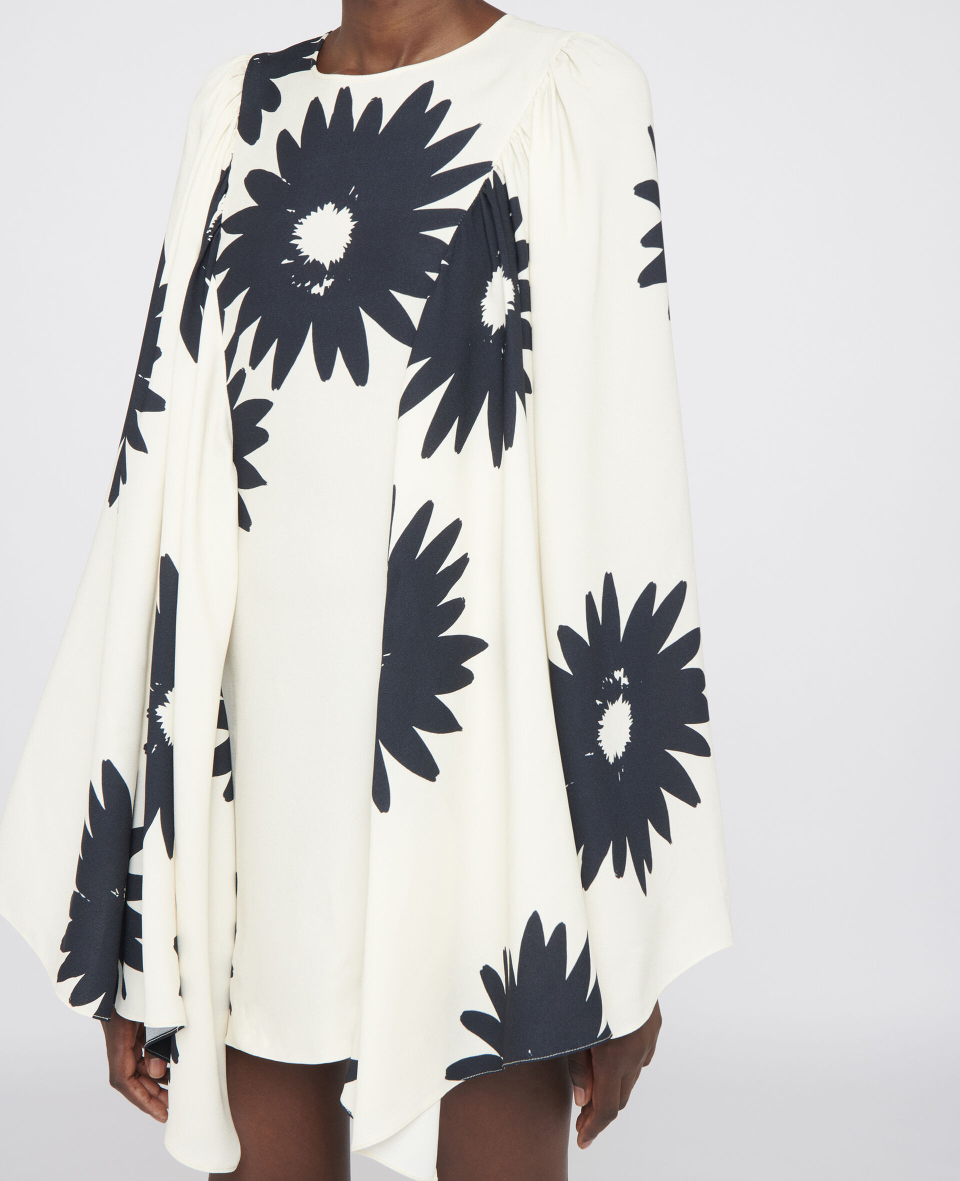 Robe fleurie Luciana-Blanc-large image number 3