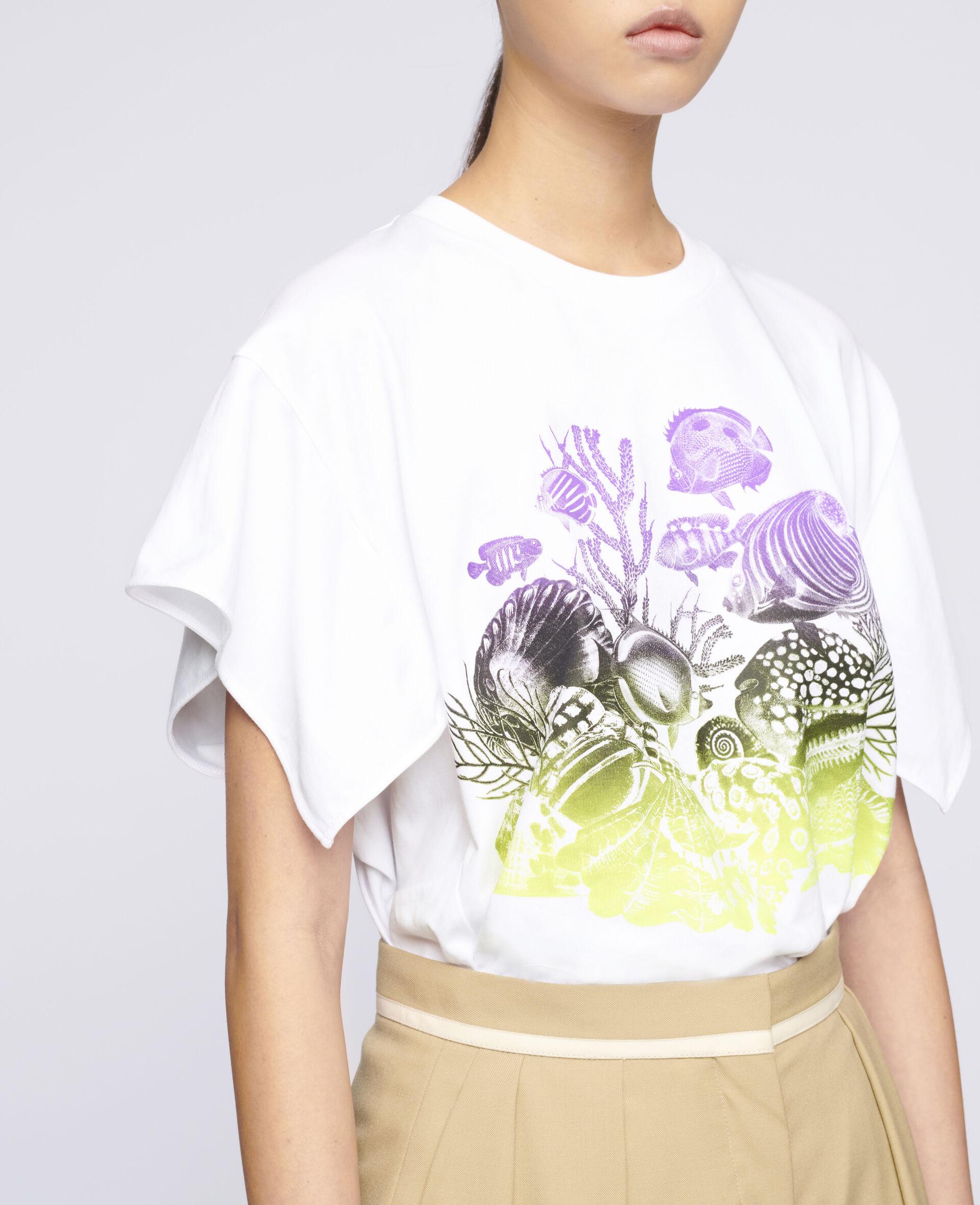 Sealife Print Cotton T-Shirt-White-large image number 3