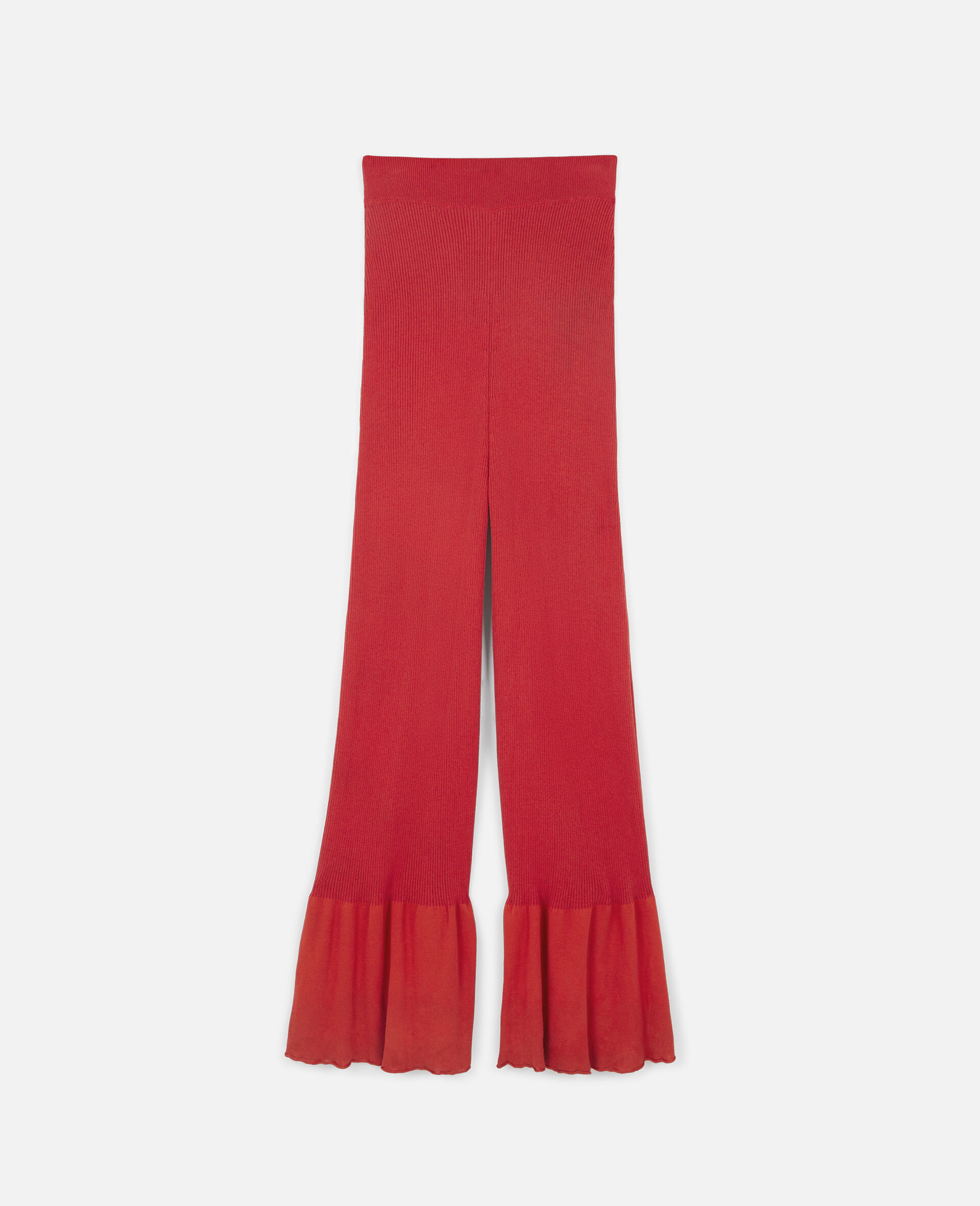 Flared Leg Trousers-Red-large image number 0