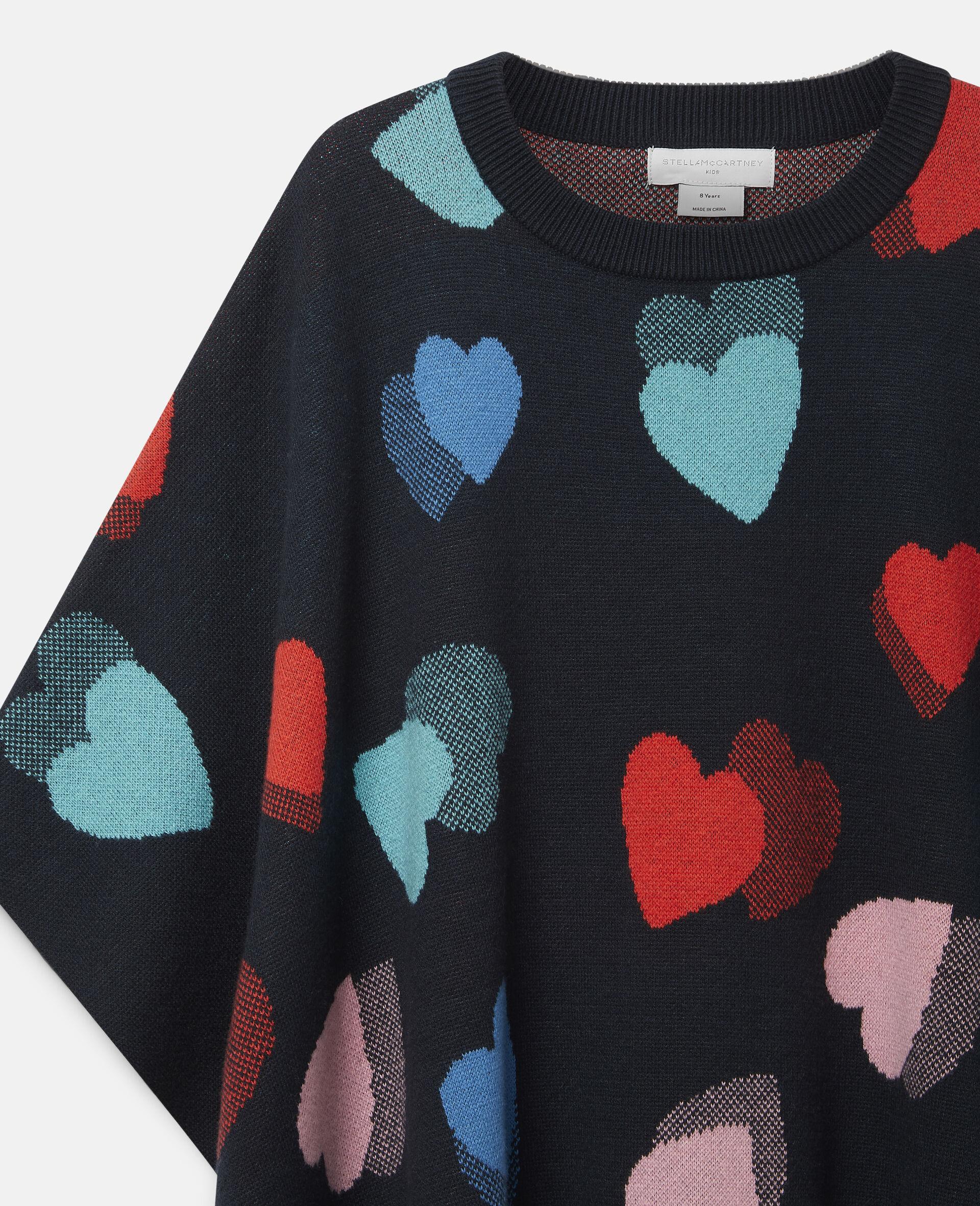 Hearts Knit Cape-Multicolour-large image number 2