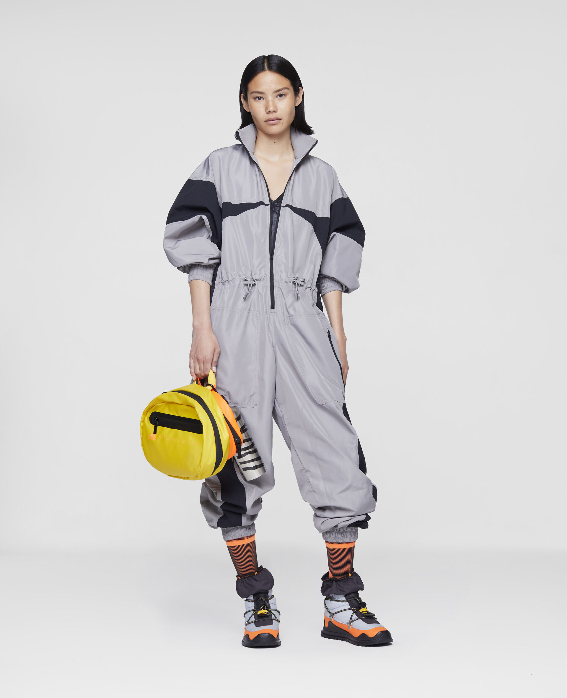 Earth Protector Woven Jumpsuit-Grey-large image number 1