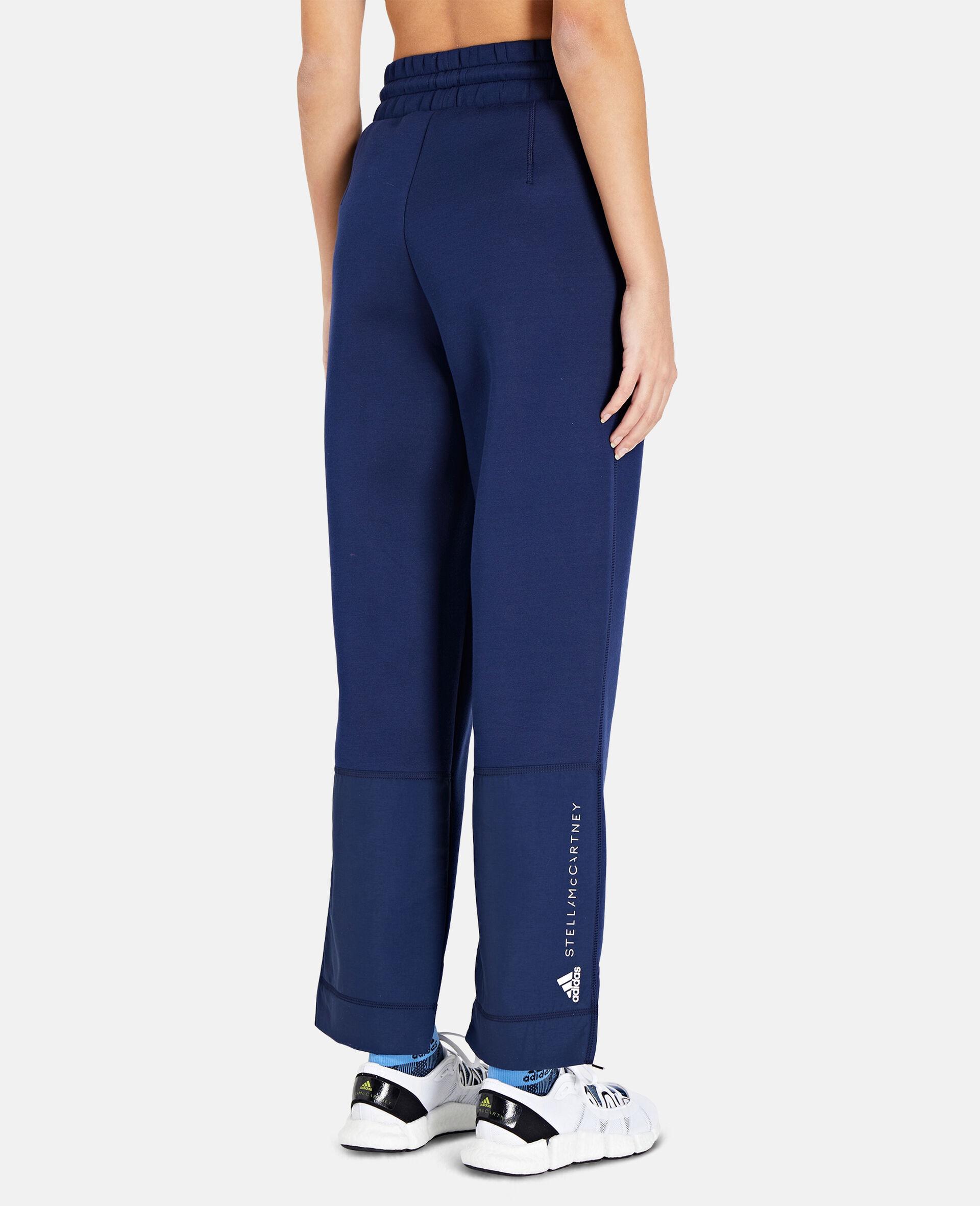 Blue Tapered Sweatpants-Blue-large image number 2