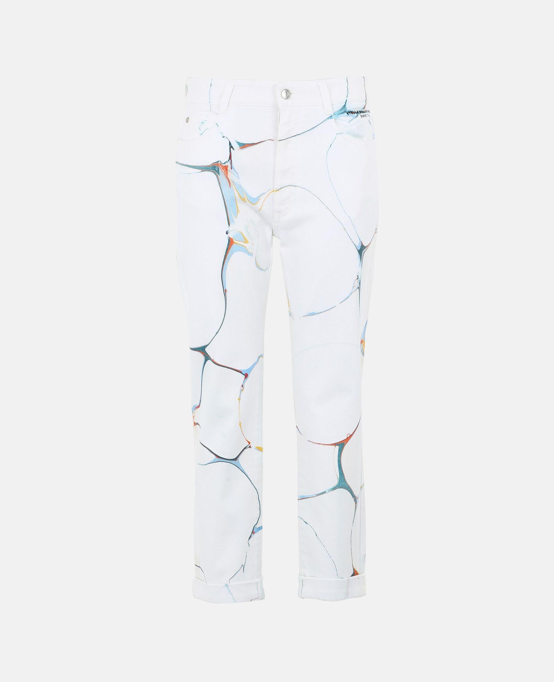 Jeans Boyfriend Skinny -Bianco-large image number 0