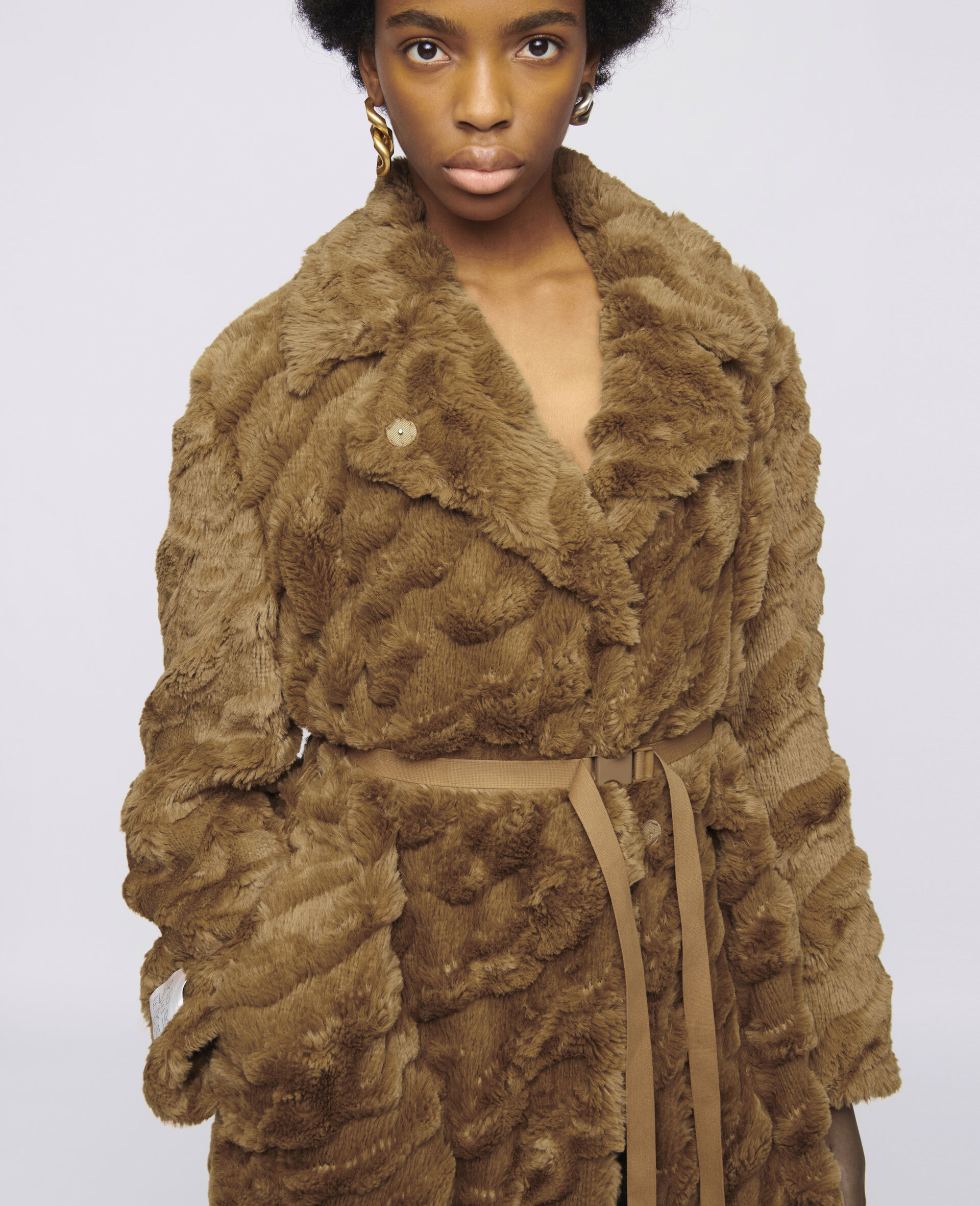 Mantel Melina Koba aus FFF-Brown-large image number 3