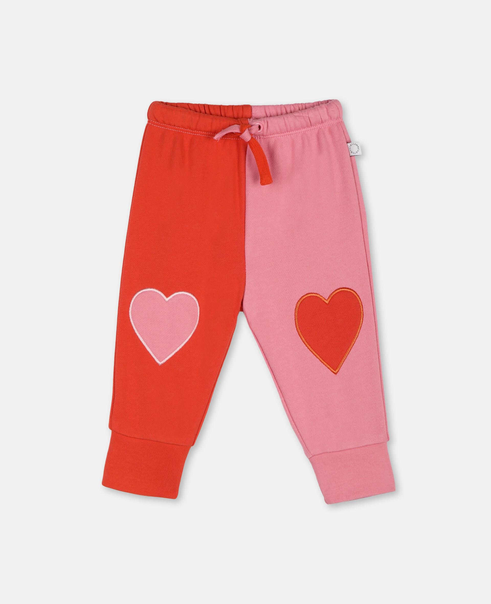 Hearts Cotton Sweatpants -Pink-large image number 0