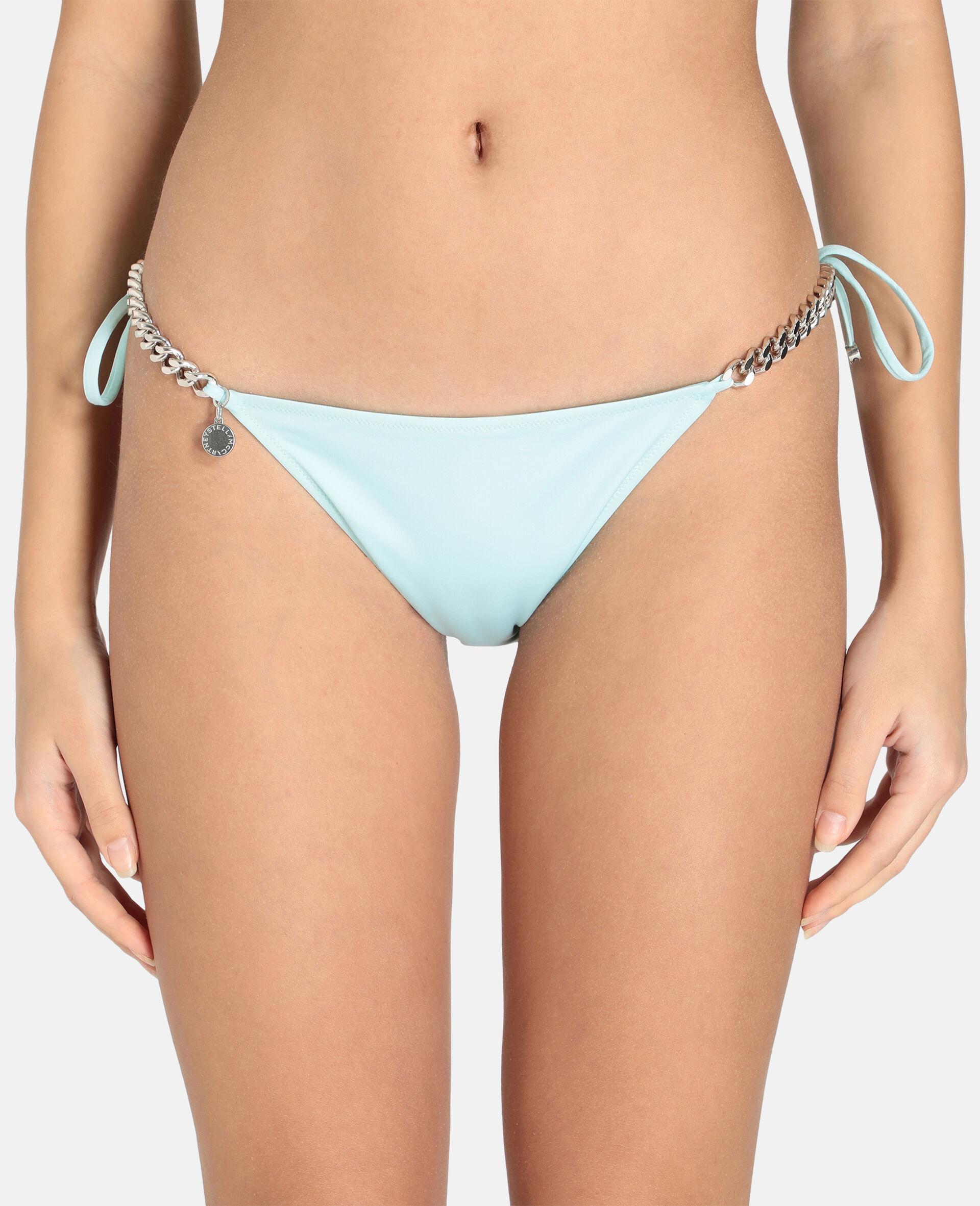Bikini mit seitlicher Bindung und ikonischer Kette-Schwarz-large image number 3