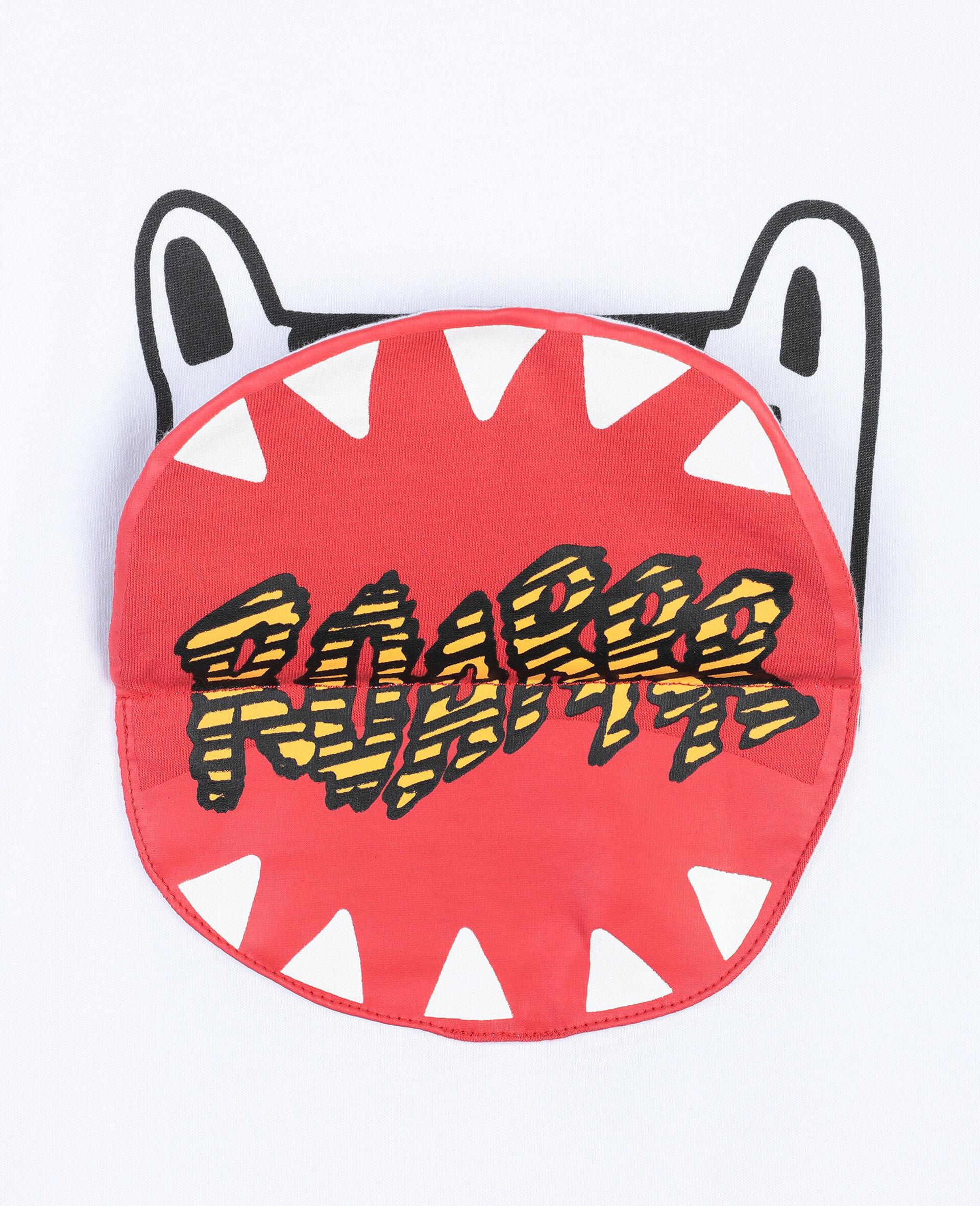 "Baumwoll-T-Shirt mit ""Funny-Tiger""-Print -Weiß-large image number 1"