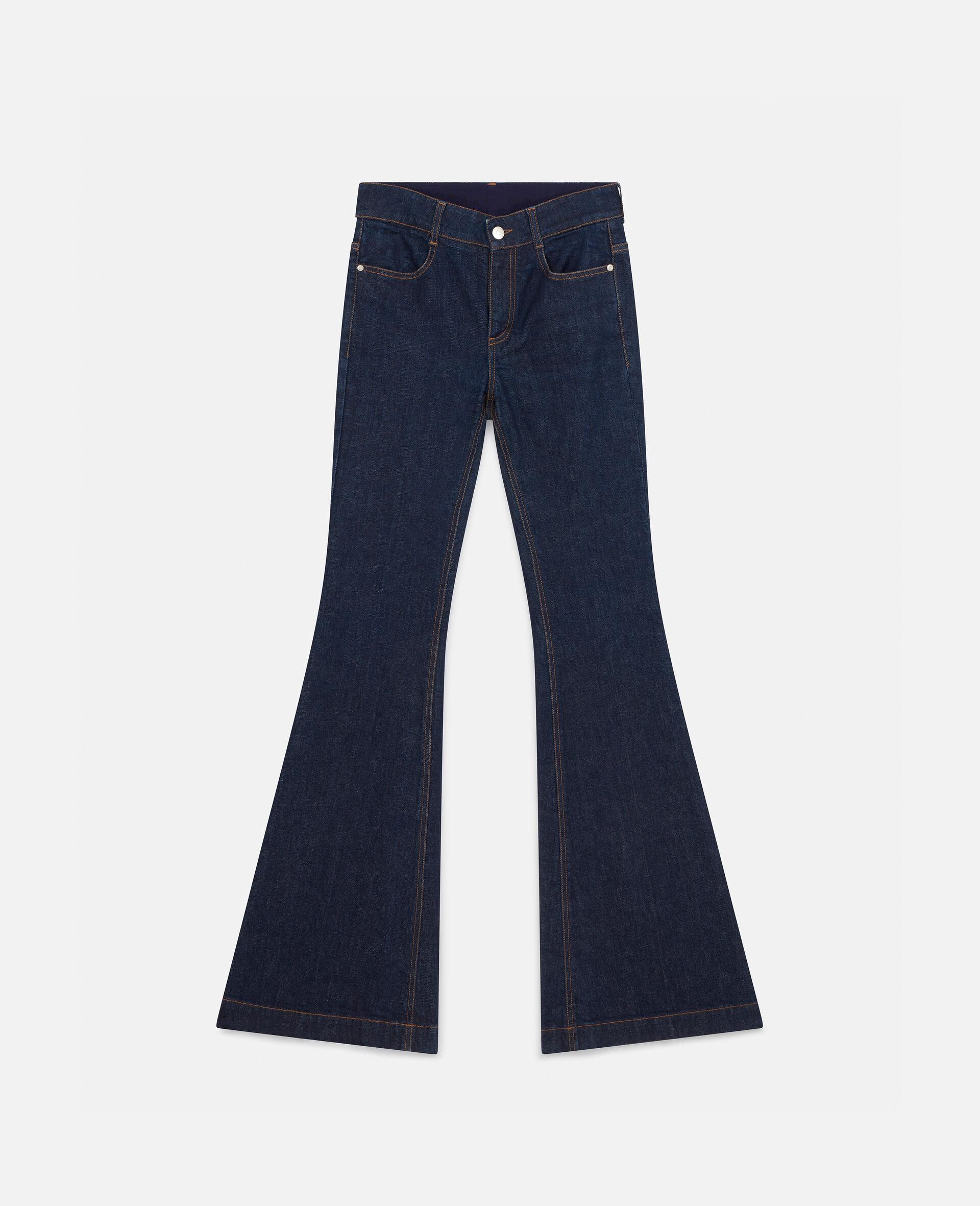 Ausgestellte Hose aus Denim im Stil der 70er-Blau-large image number 0