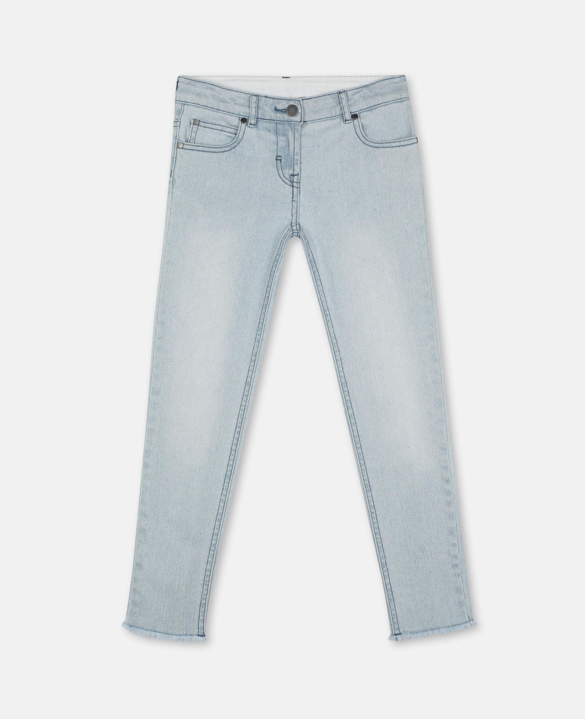 紧身牛仔裤-蓝色-large image number 0