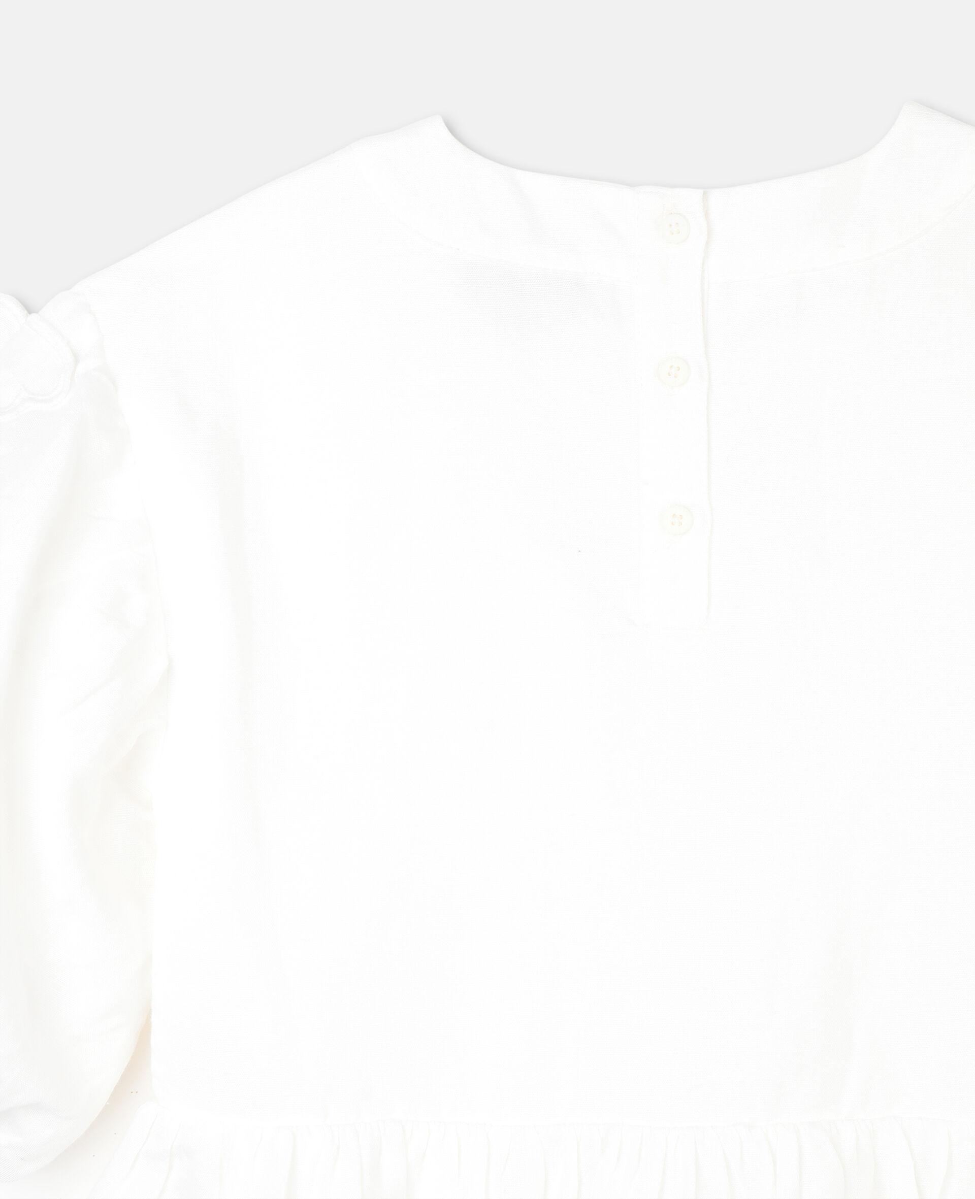 Kleid mit Schmetterling-Stickerei-Weiß-large image number 2