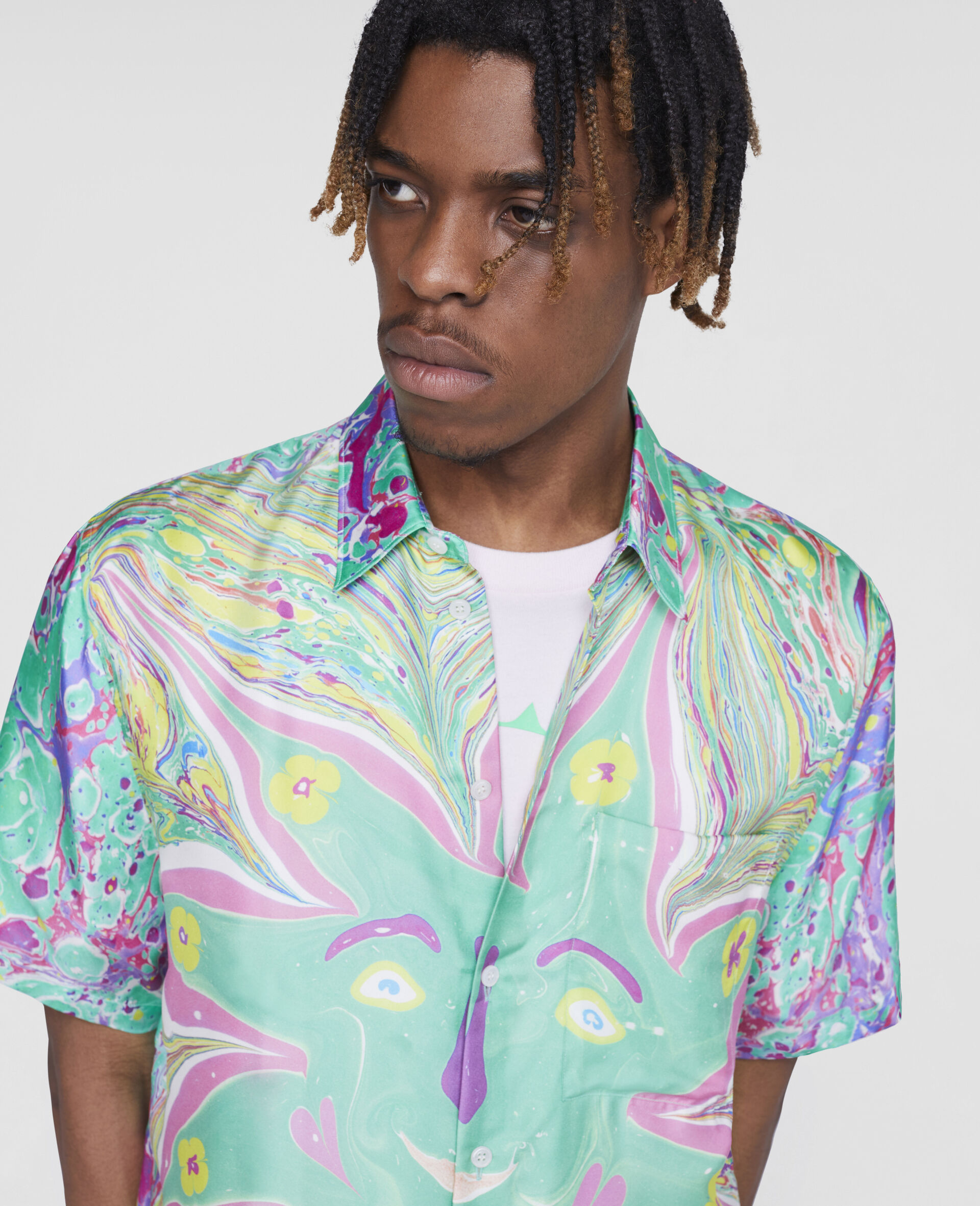 Myfawnwy Printed Silk Shirt-Multicolour-large image number 4