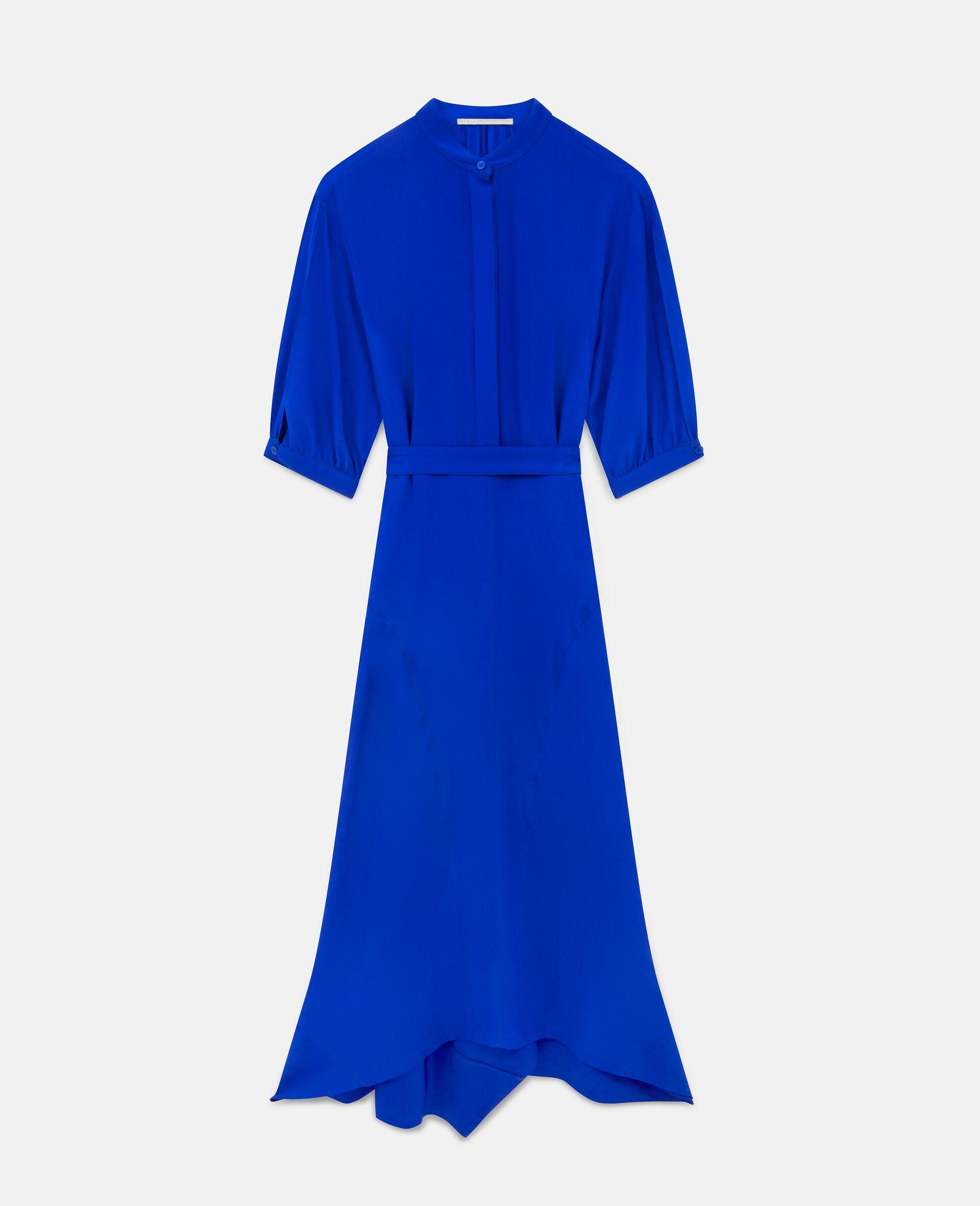 Robe en soie Olivia-Bleu-large image number 0