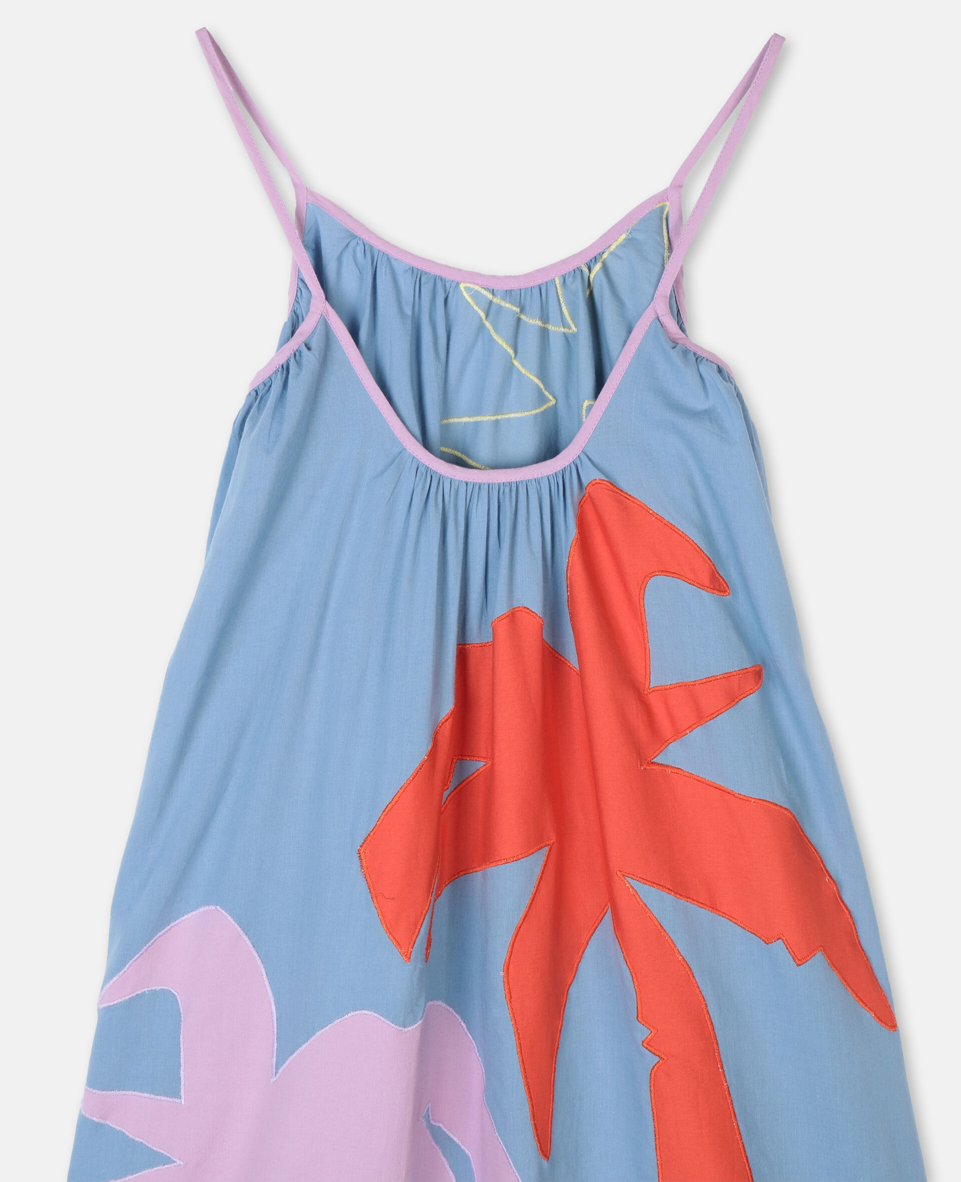 Palm Patches Cotton Dress-Multicoloured-large image number 2