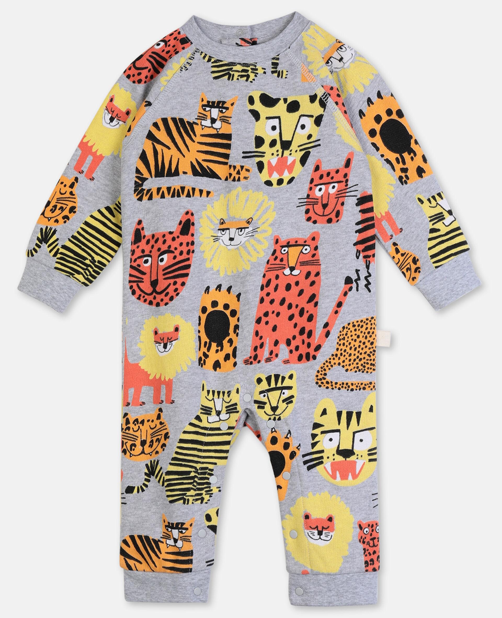 Jumpsuit aus Baumwolle mit Wildkatzen-Print-Bunt-large image number 0