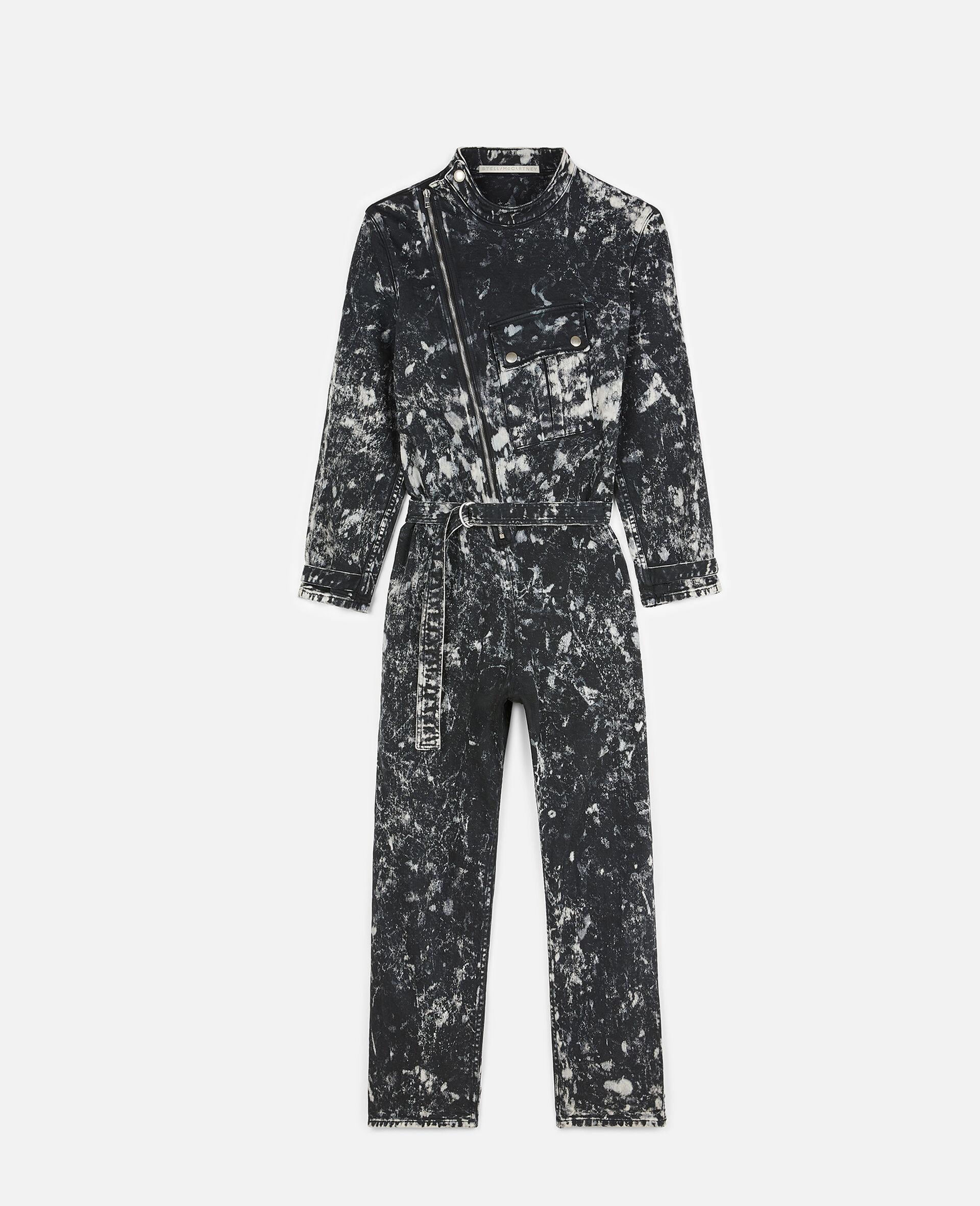 Holly Denim Jumpsuit-Black-large image number 0