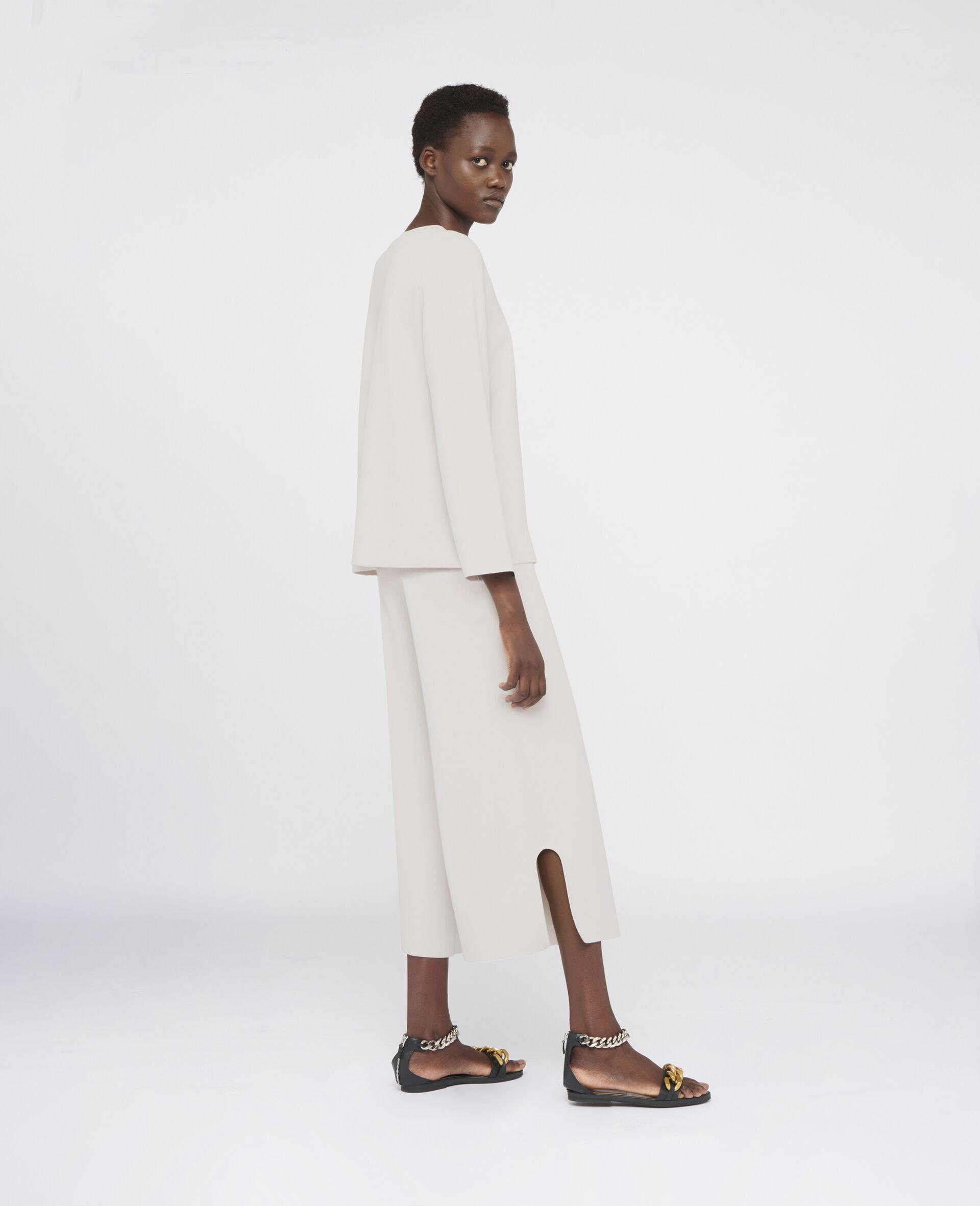 Pantalon en maille compacte-Gris-large image number 2
