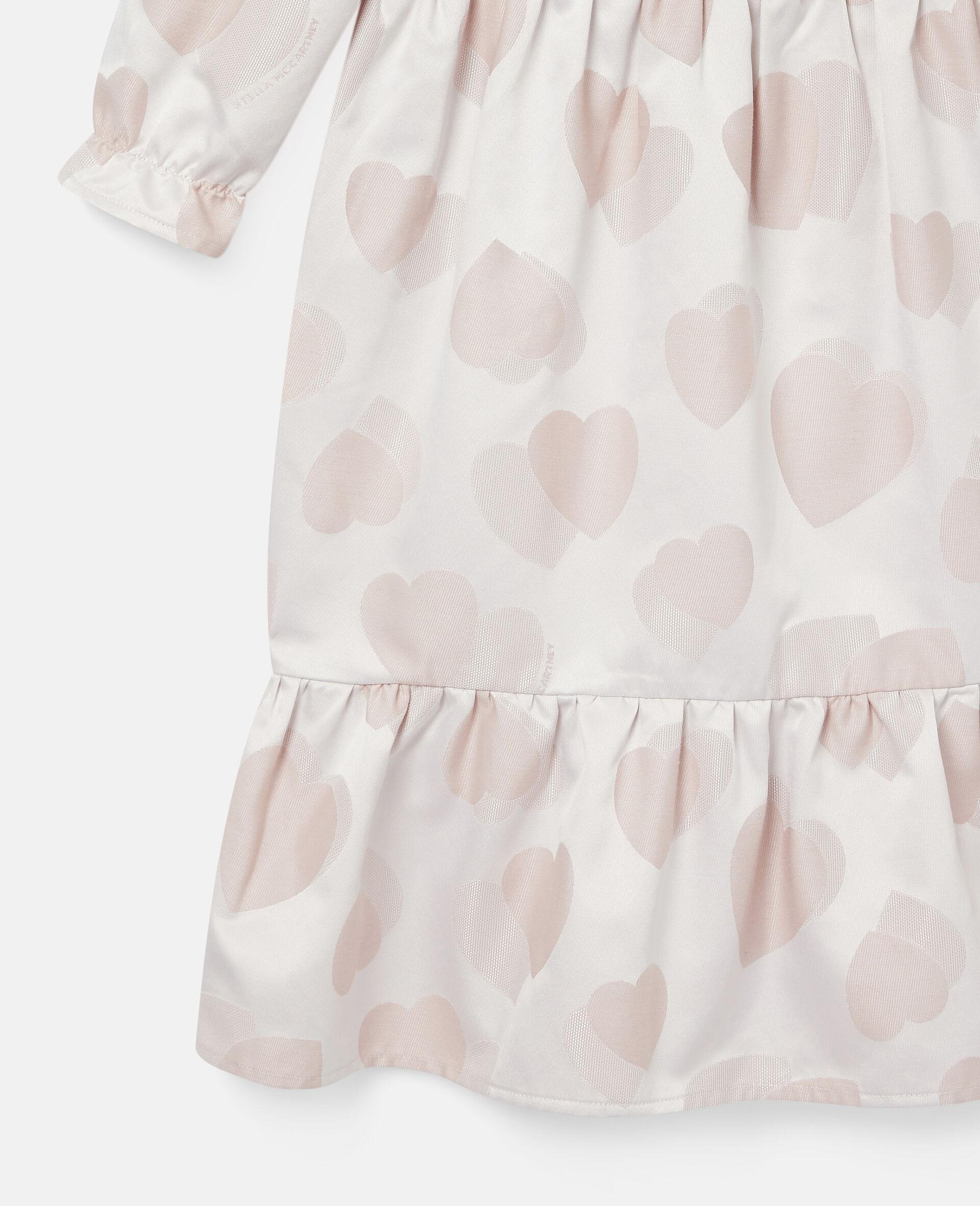 Kleid aus Jacquard mit Herzen-Print-Rose-large image number 1