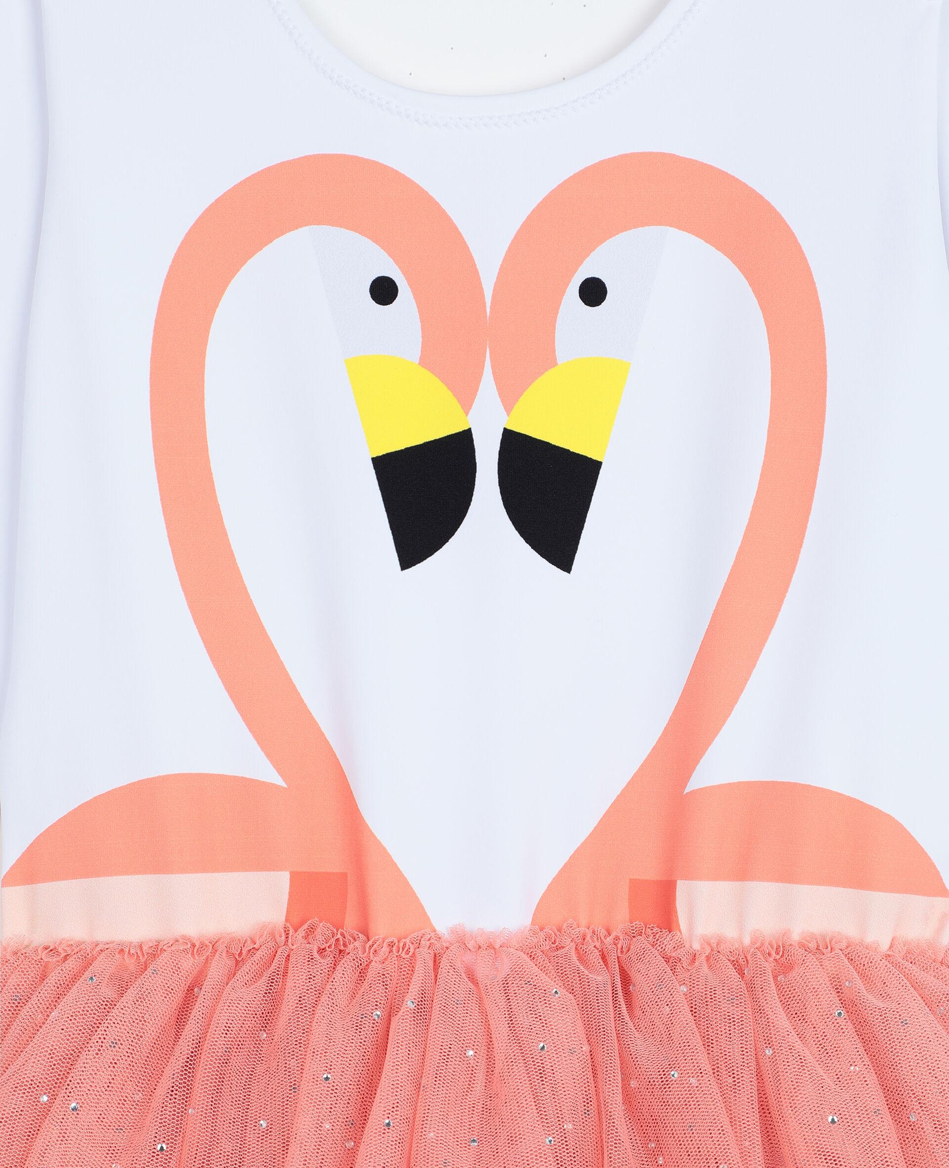 Flamingo Dress-White-large image number 1
