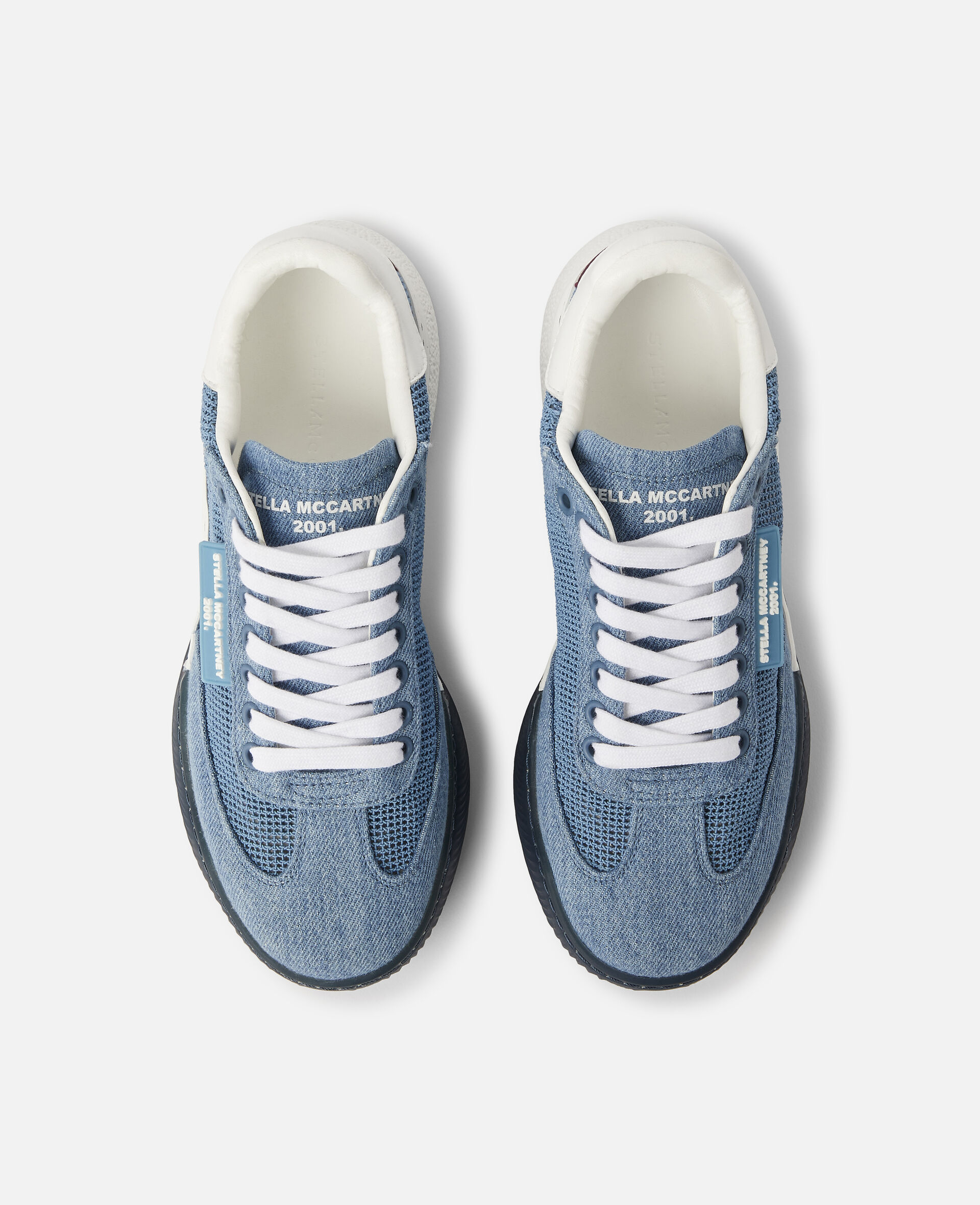 Loop Square Mesh Sneakers -Blue-large image number 3