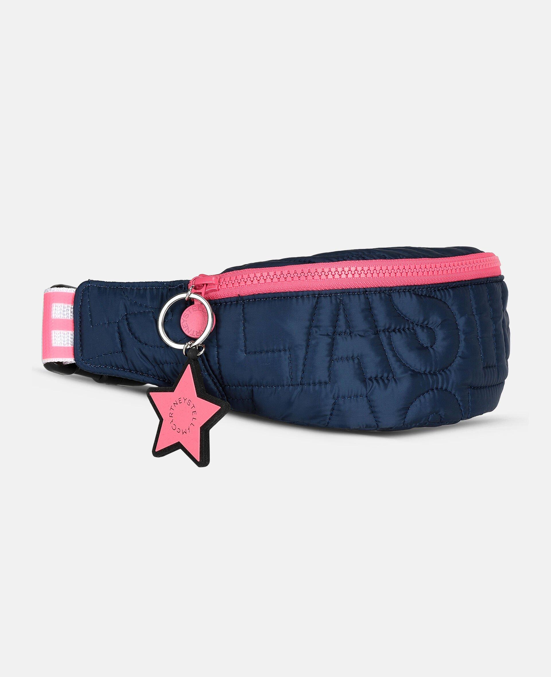 Sac ceinture matelassé avec logo -Bleu-large image number 1